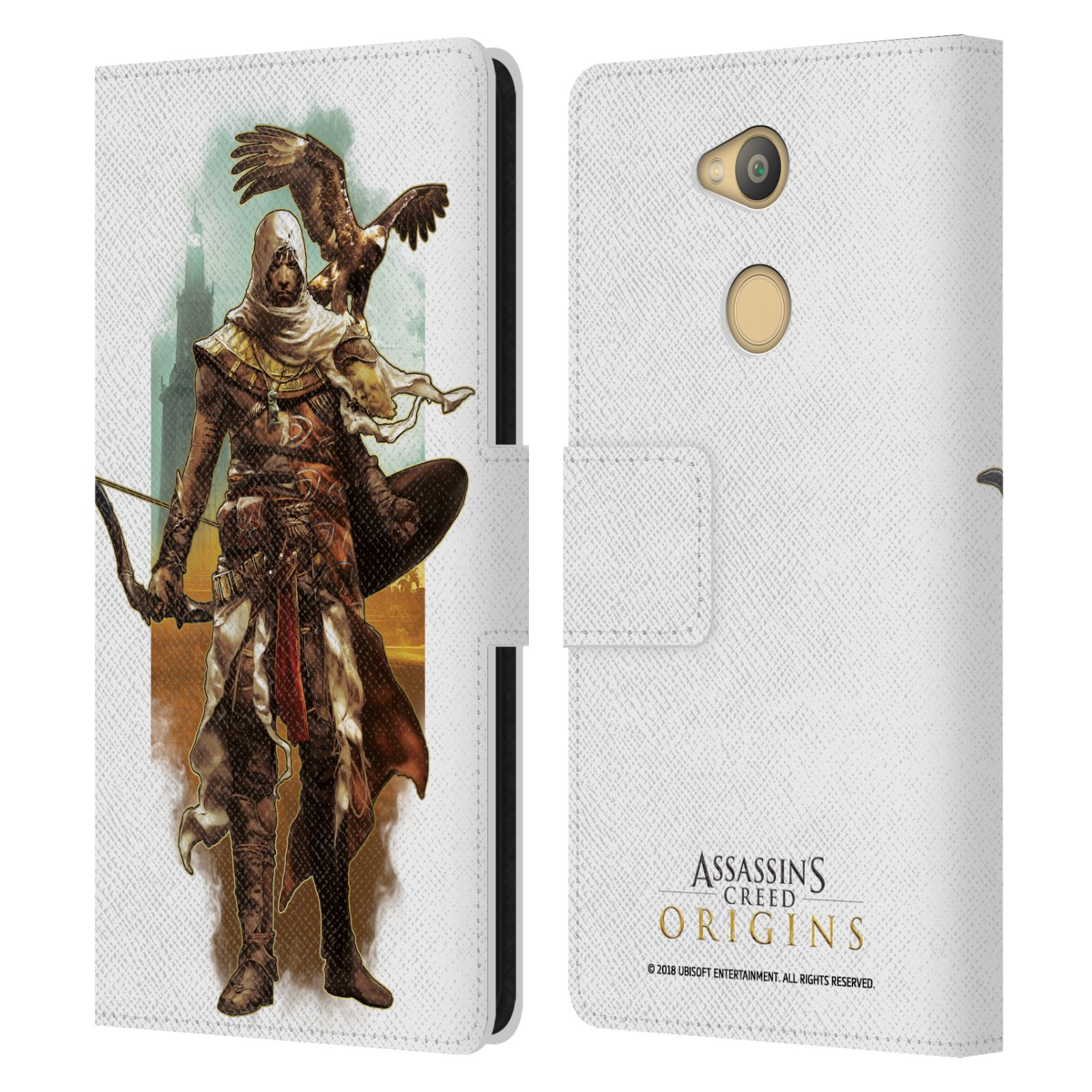 Pouzdro na mobil Sony Xperia L2 - Head Case - Assasins Creed Bayek s orlem
