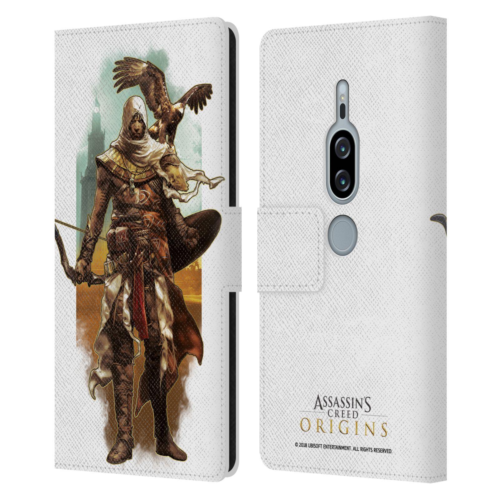 Pouzdro na mobil Sony Xperia XZ2 Premium - Head Case - Assasins Creed Bayek s orlem