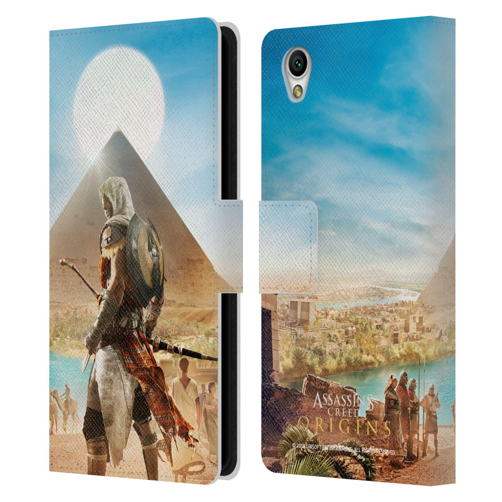 Pouzdro na mobil Sony Xperia L1 - Head Case - Assasins Creed Origins Bayek pyramida