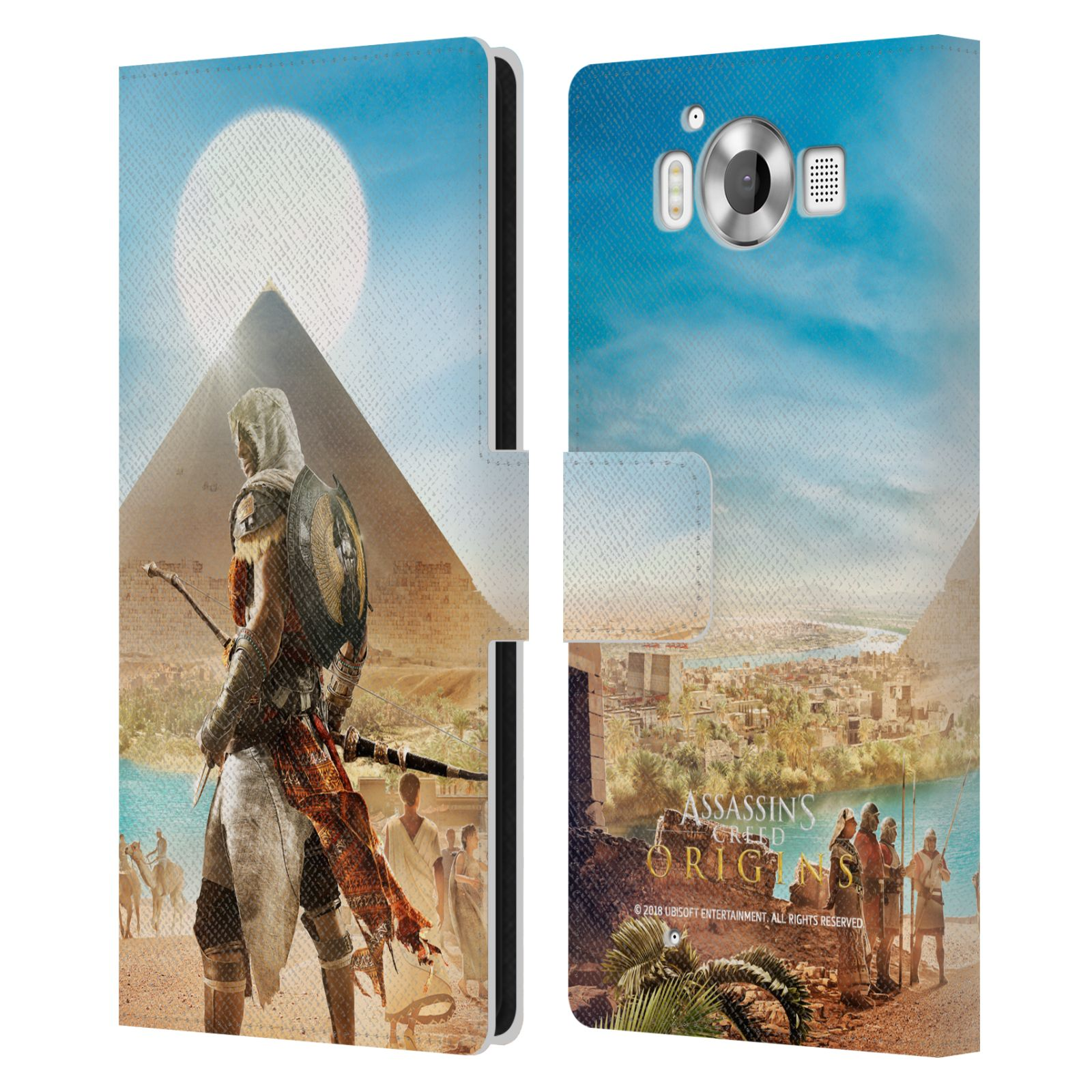 Pouzdro na mobil Nokia Lumia 950 - Head Case - Assasins Creed Origins Bayek pyramida