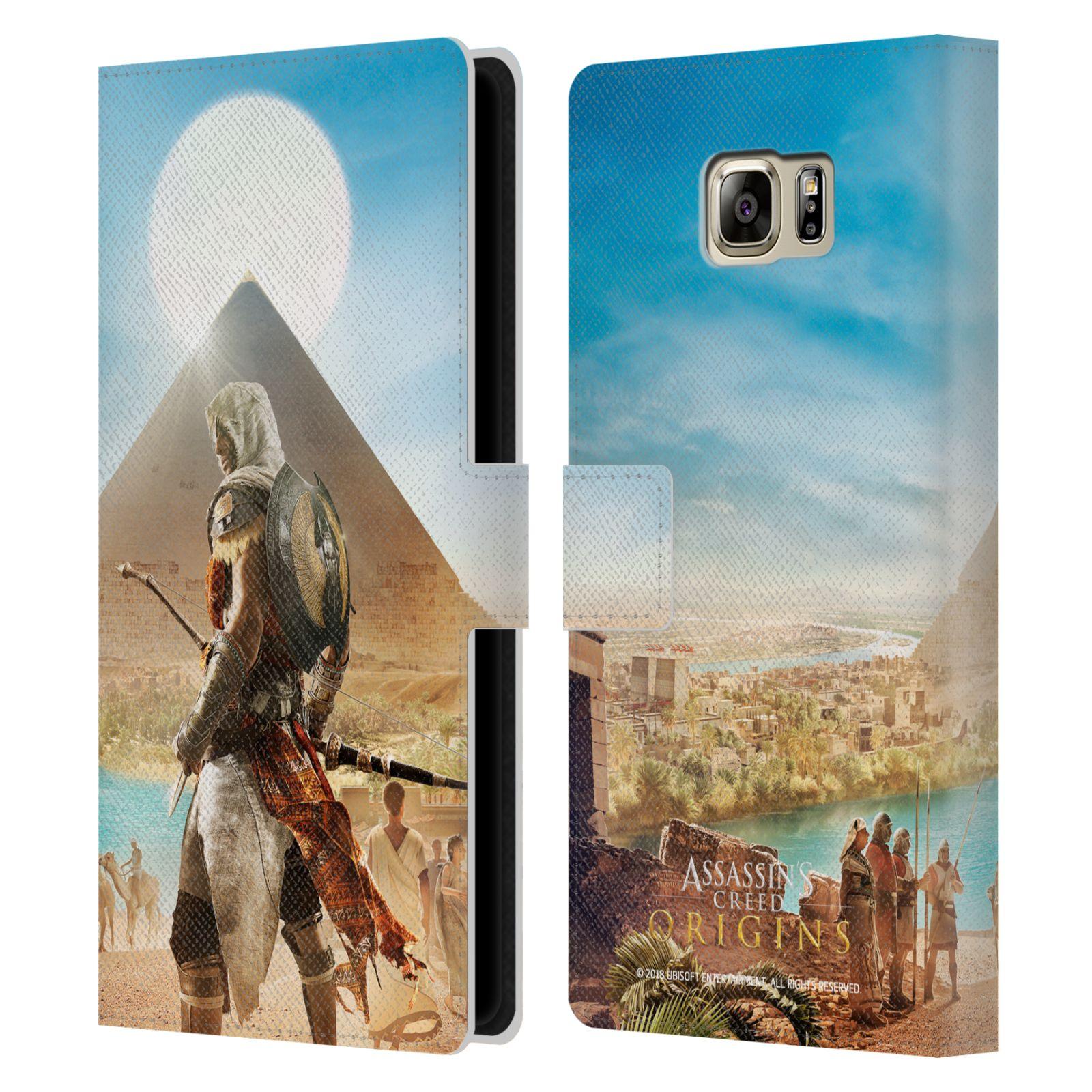 Pouzdro na mobil Samsung Galaxy NOTE 5 - Head Case - Assasins Creed Origins Bayek pyramida