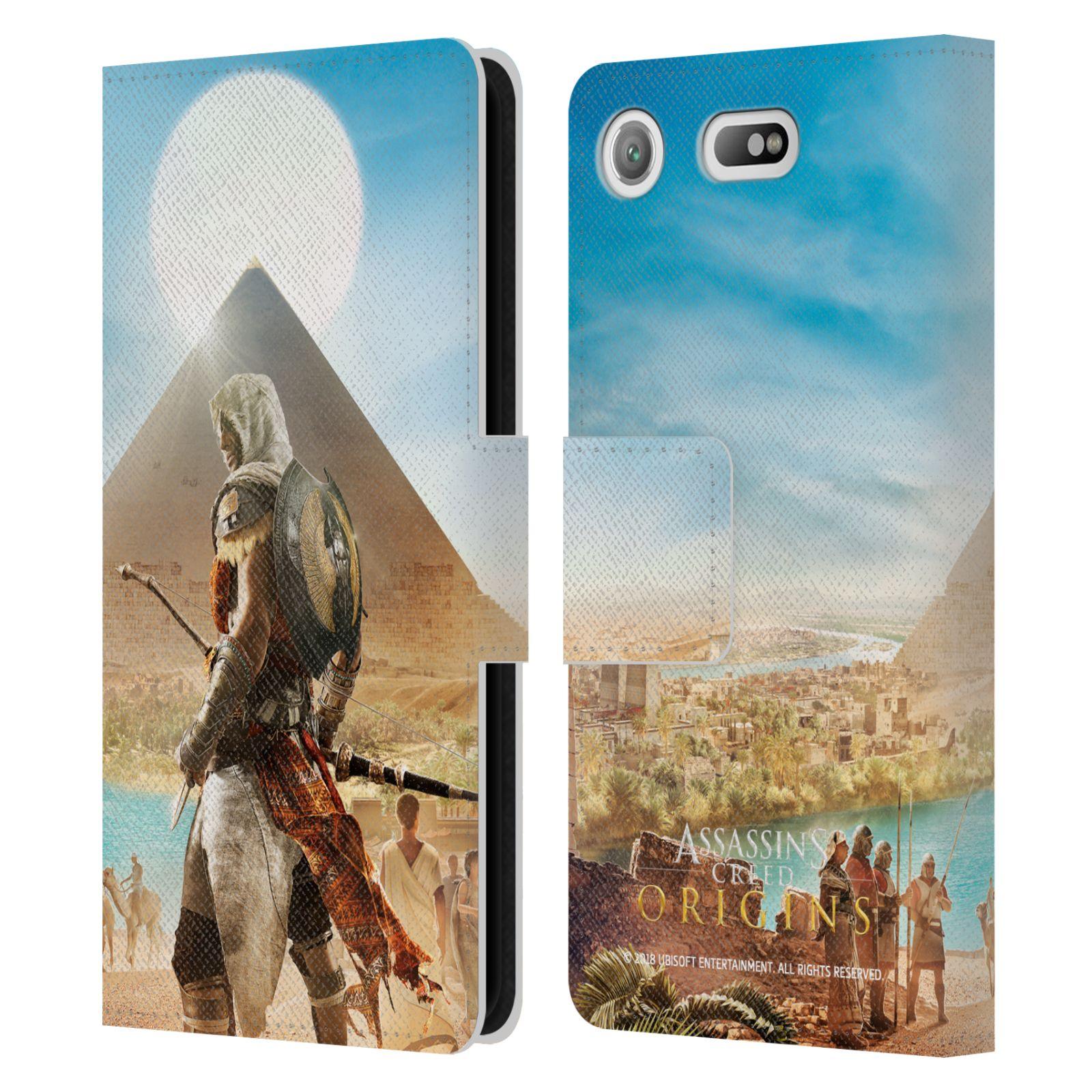 Pouzdro na mobil Sony Xperia XZ1 Compact - Head Case - Assasins Creed Origins Bayek pyramida