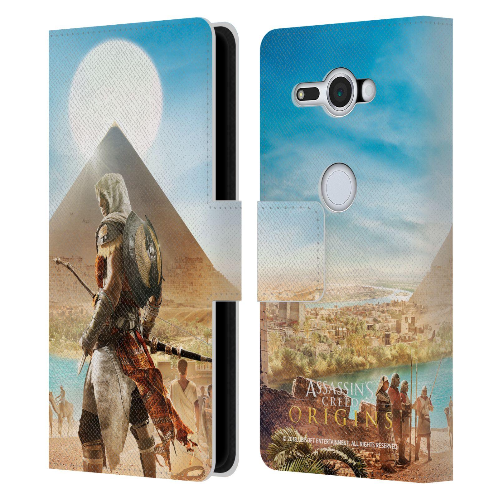Pouzdro na mobil Sony Xperia XZ2 Compact - Head Case - Assasins Creed Origins Bayek pyramida