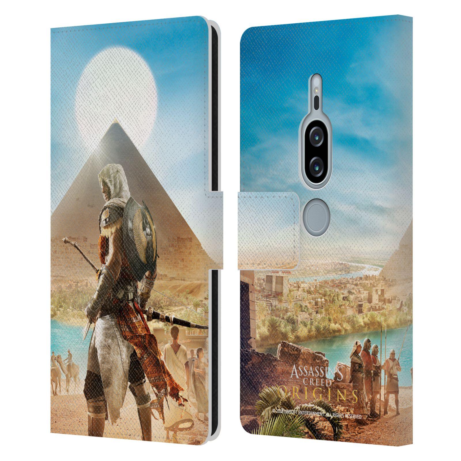 Pouzdro na mobil Sony Xperia XZ2 Premium - Head Case - Assasins Creed Origins Bayek pyramida