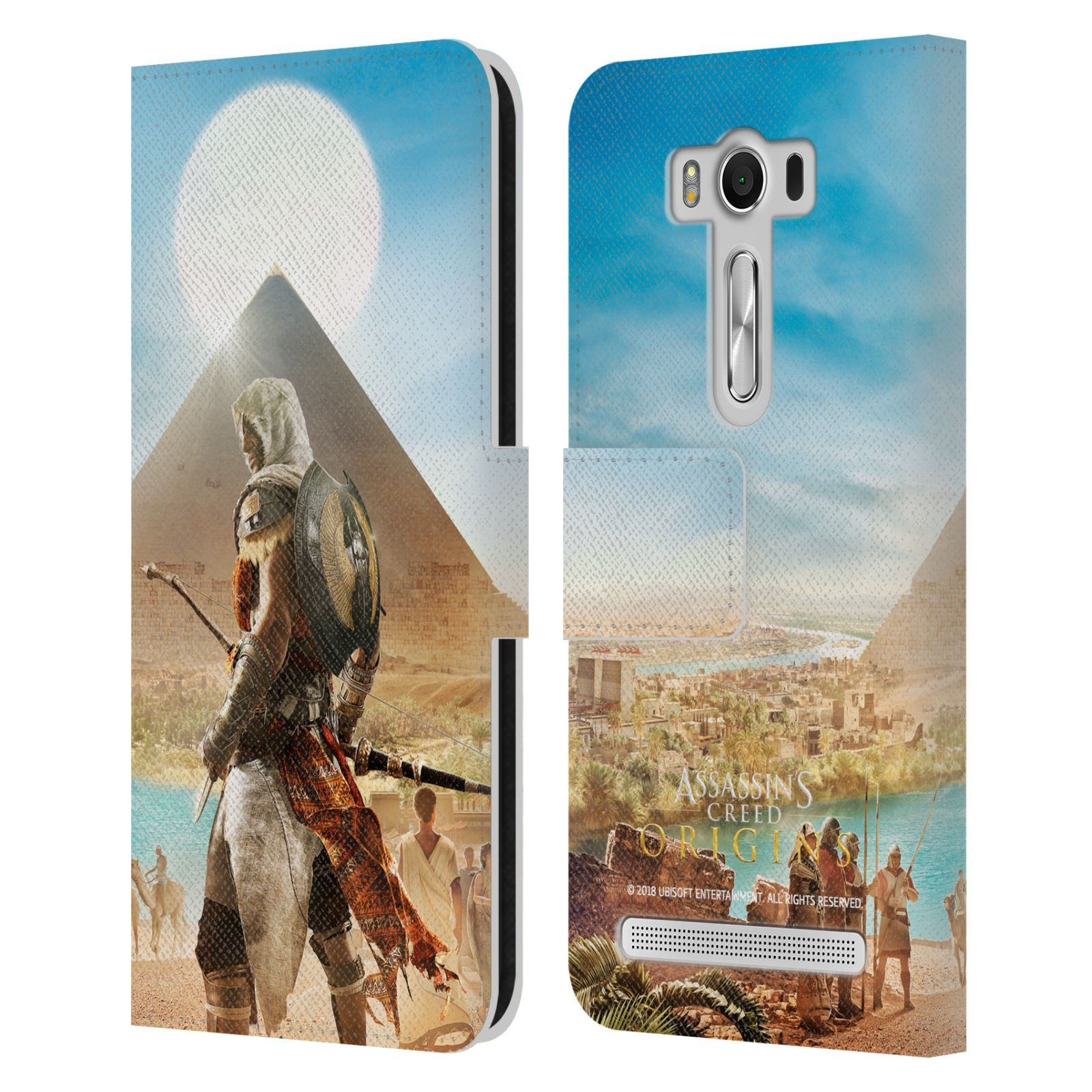 Pouzdro na mobil Asus Zenfone 2 Laser ZE500KL - Head Case - Assasins Creed Origins Bayek pyramida