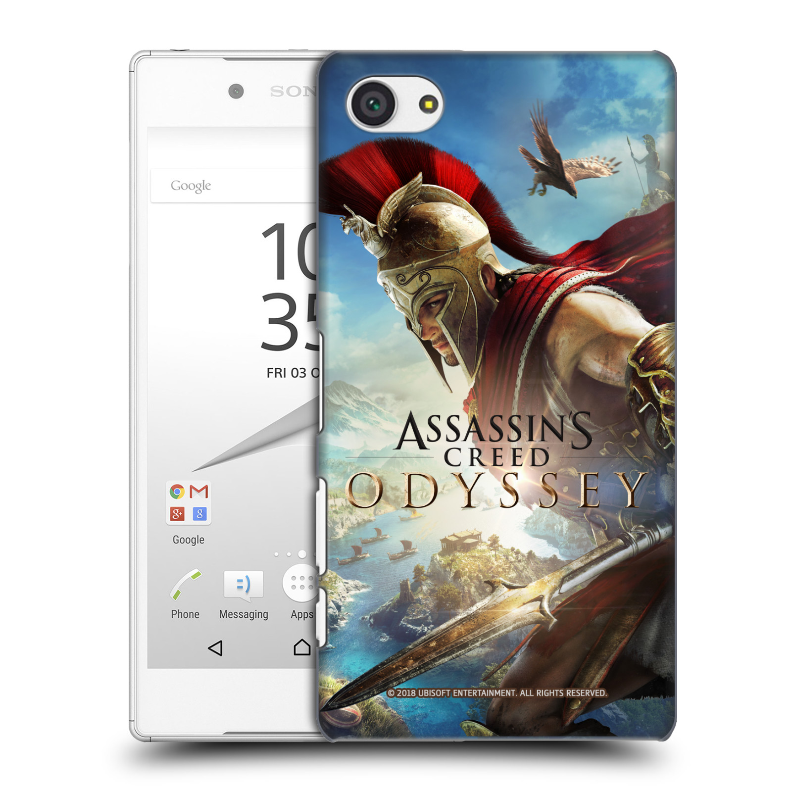 Pouzdro na mobil Sony Xperia Z5 COMPACT - HEAD CASE - Assassins Creed Odyssey Alexios a Ikaros