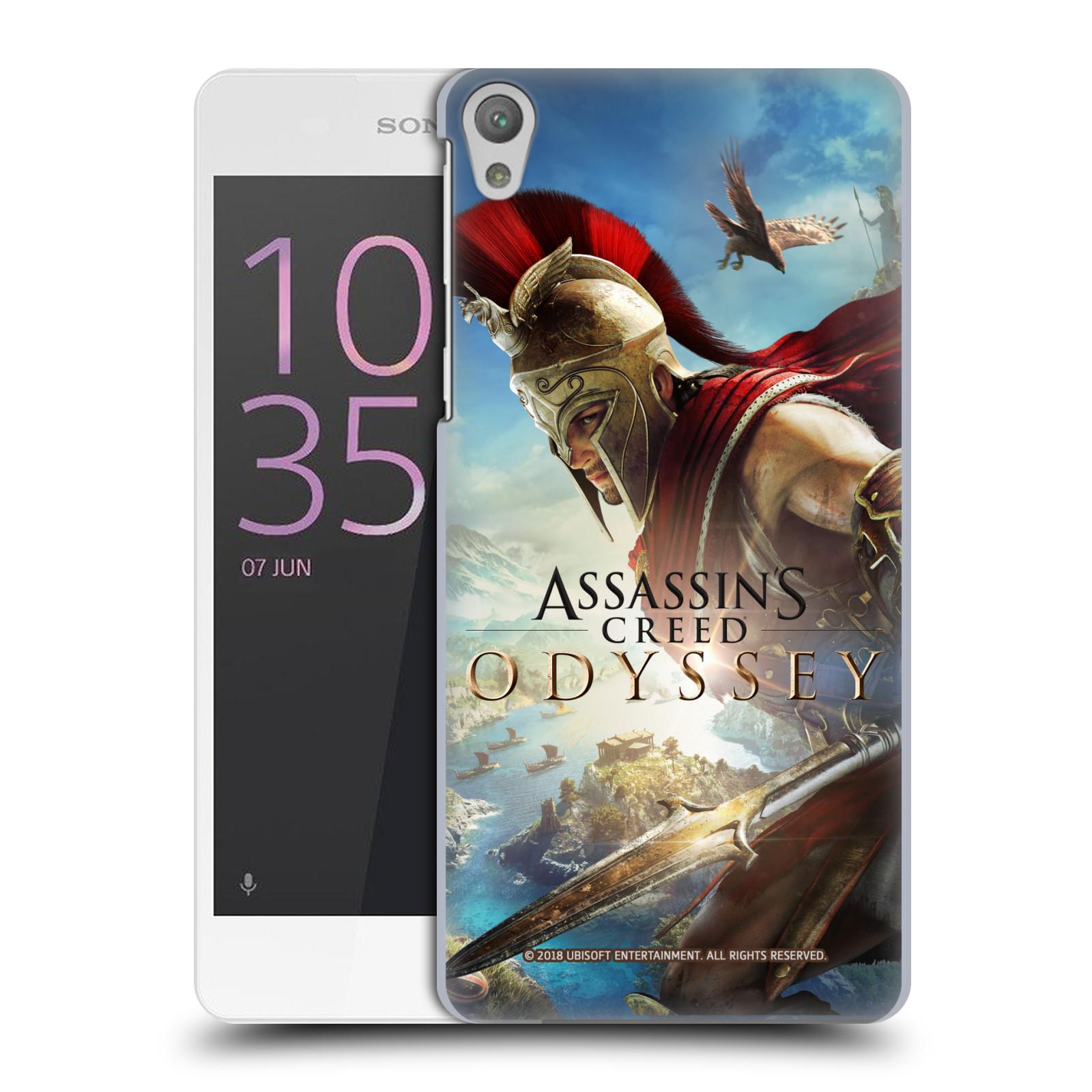 Pouzdro na mobil Sony Xperia E5 - HEAD CASE - Assassins Creed Odyssey Alexios a Ikaros