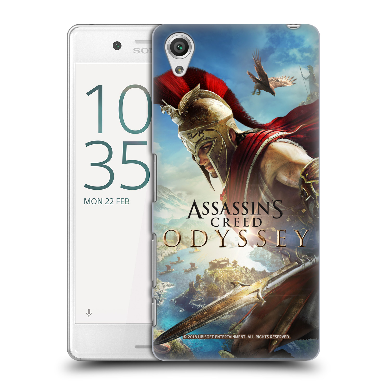 Pouzdro na mobil Sony Xperia X PERFORMANCE - HEAD CASE - Assassins Creed Odyssey Alexios a Ikaros
