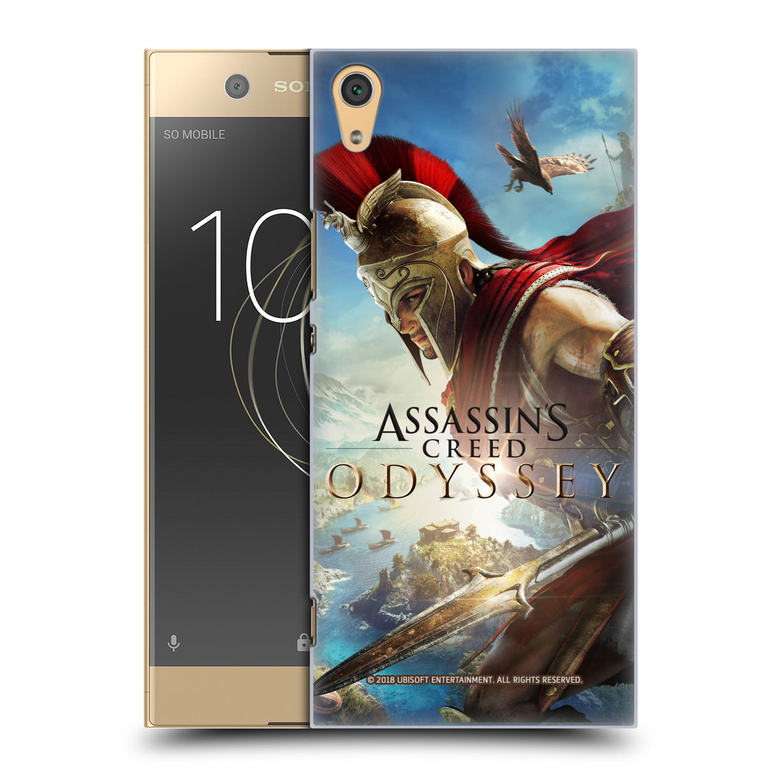 Pouzdro na mobil Sony Xperia XA1 ULTRA - HEAD CASE - Assassins Creed Odyssey Alexios a Ikaros