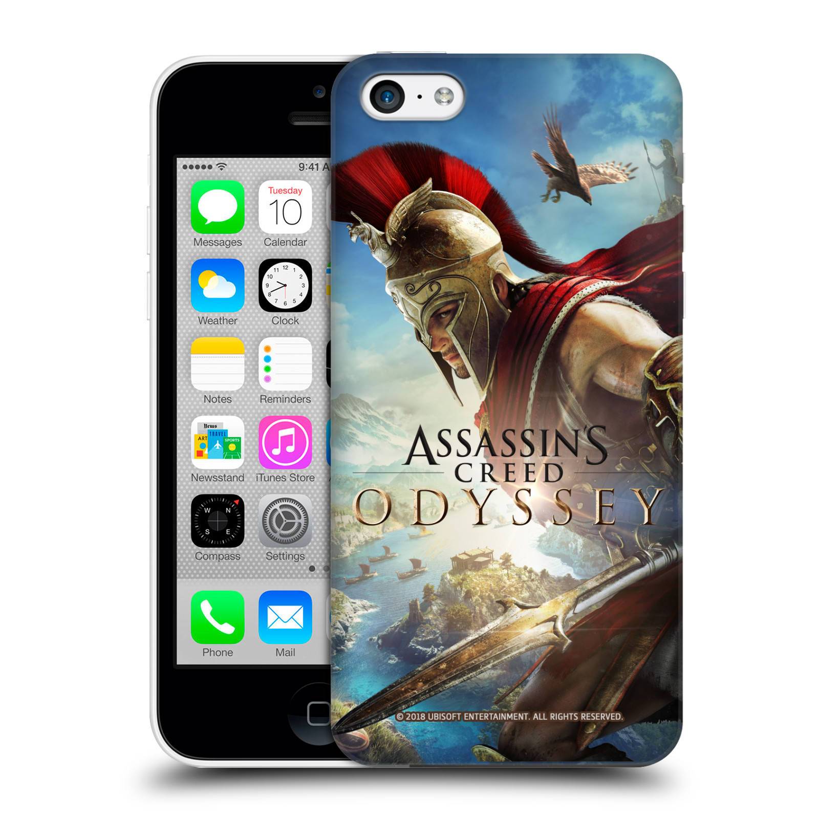 Pouzdro na mobil Apple Iphone 5C - HEAD CASE - Assassins Creed Odyssey Alexios a Ikaros