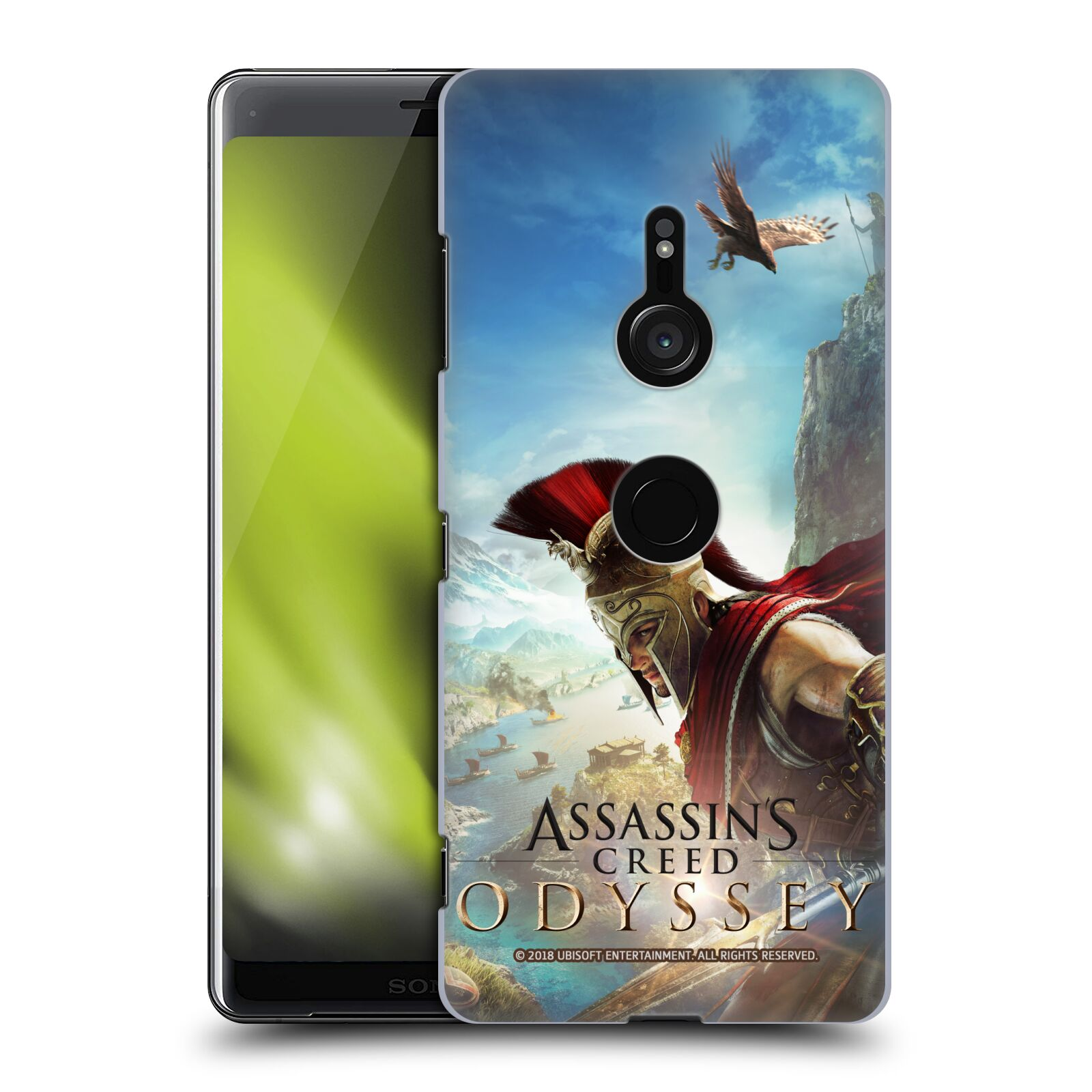 Pouzdro na mobil Sony Xperia XZ3 - HEAD CASE - Assassins Creed Odyssey Alexios a Ikaros