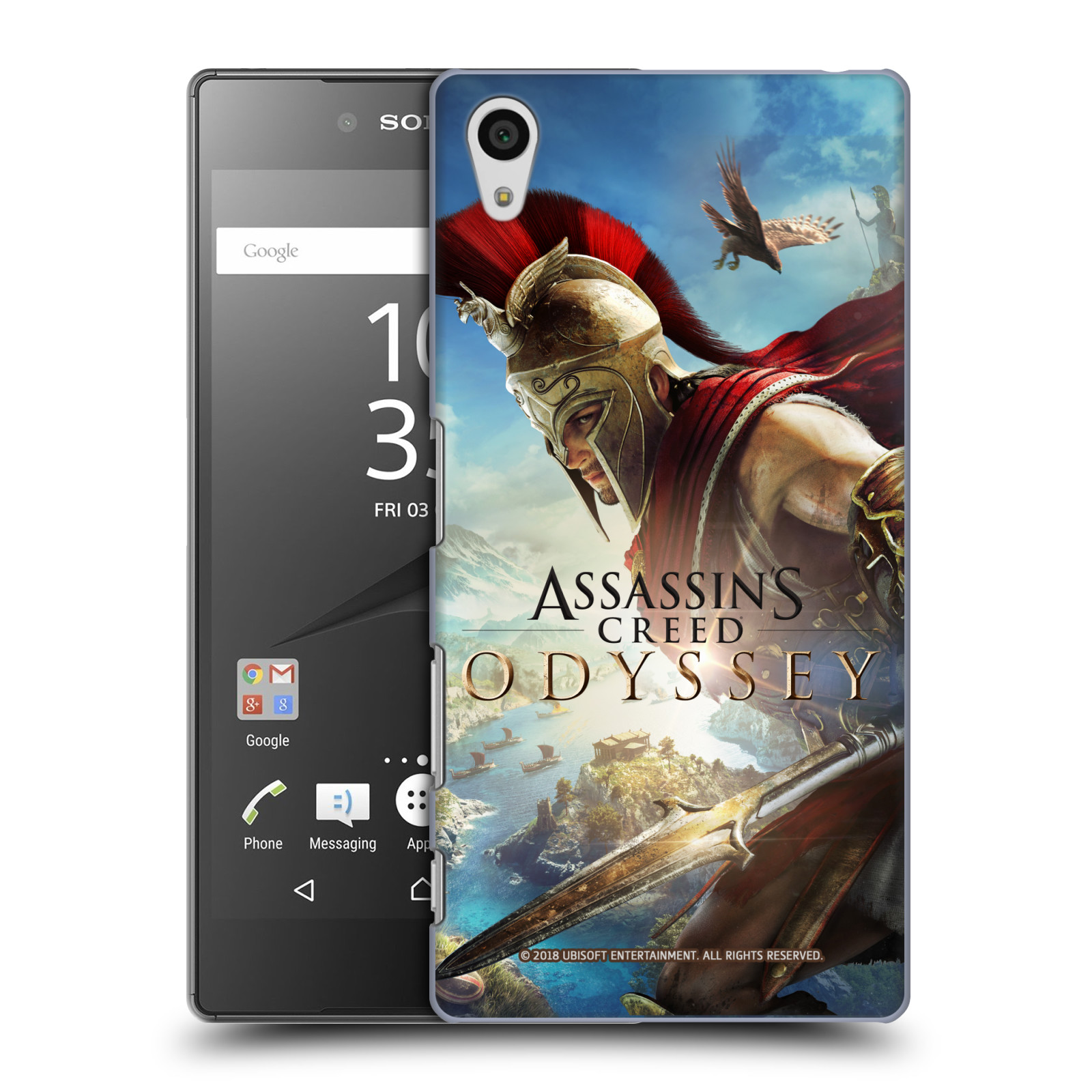 Pouzdro na mobil Sony Xperia Z5 - HEAD CASE - Assassins Creed Odyssey Alexios a Ikaros
