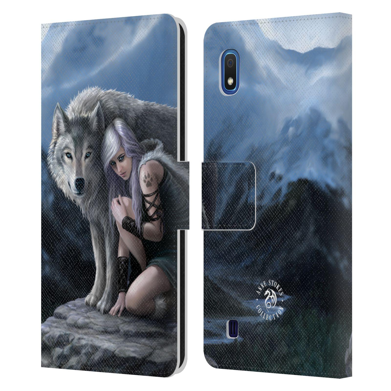 Pouzdro na mobil Samsung Galaxy A10 - Head Case - fantasy - vlk ochránce