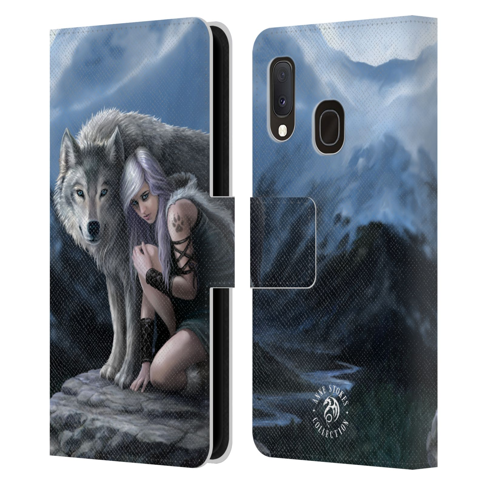 Pouzdro na mobil Samsung Galaxy A20e - Head Case - fantasy - vlk ochránce