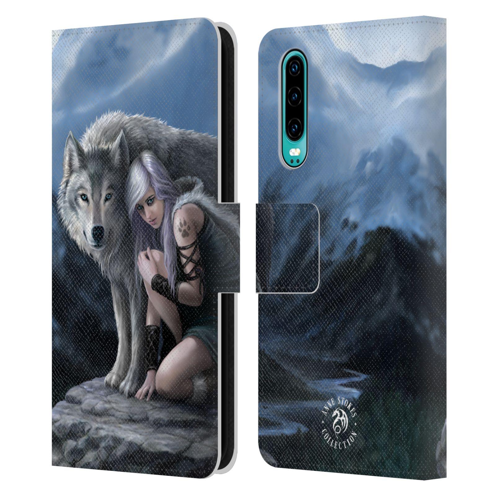 Pouzdro na mobil Huawei P30 - Head Case - fantasy - vlk ochránce