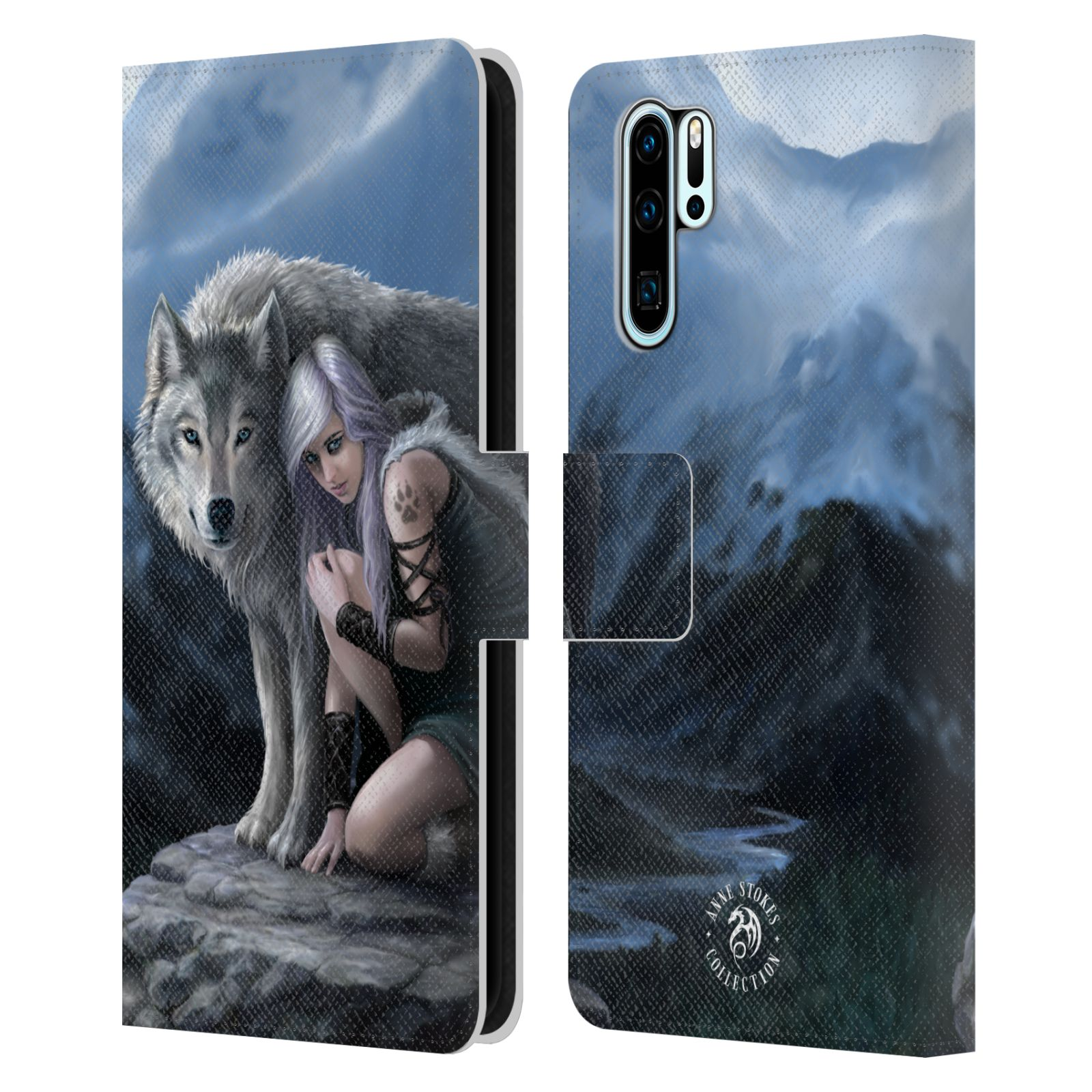 Pouzdro na mobil Huawei P30 PRO - Head Case - fantasy - vlk ochránce