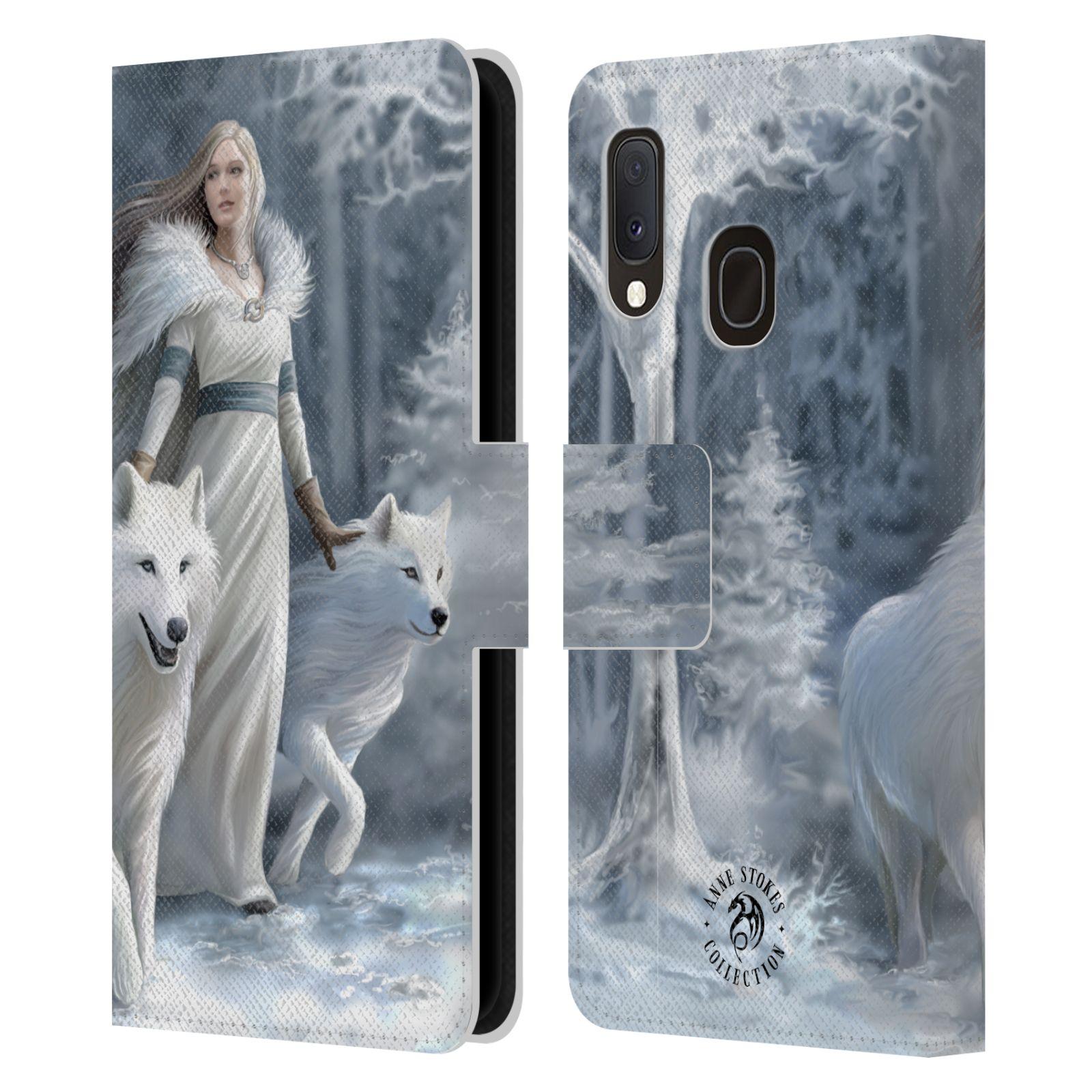 Pouzdro na mobil Samsung Galaxy A20e - Head Case - fantasy - vlk zimní stráž