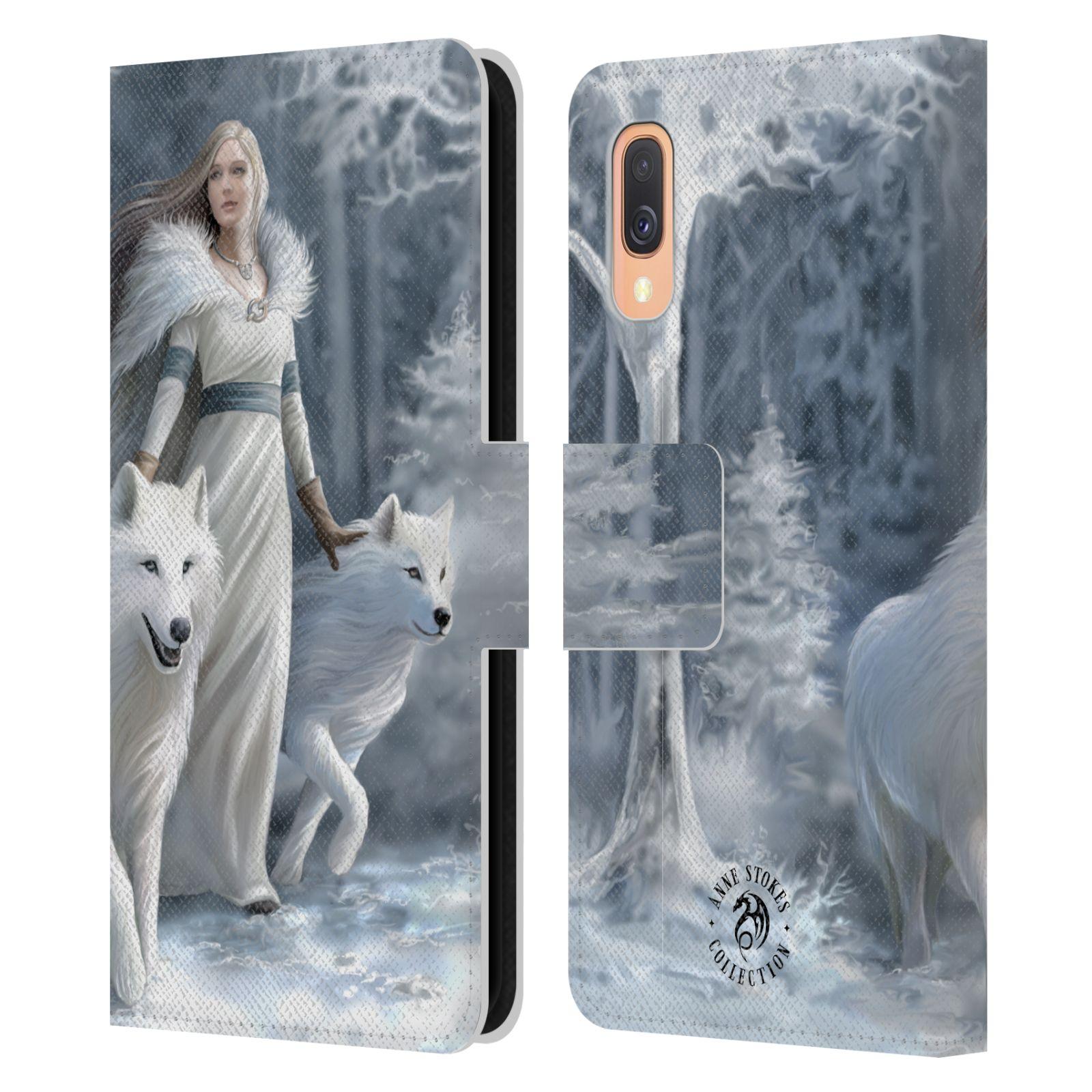 Pouzdro na mobil Samsung Galaxy A40 - Head Case - fantasy - vlk zimní stráž