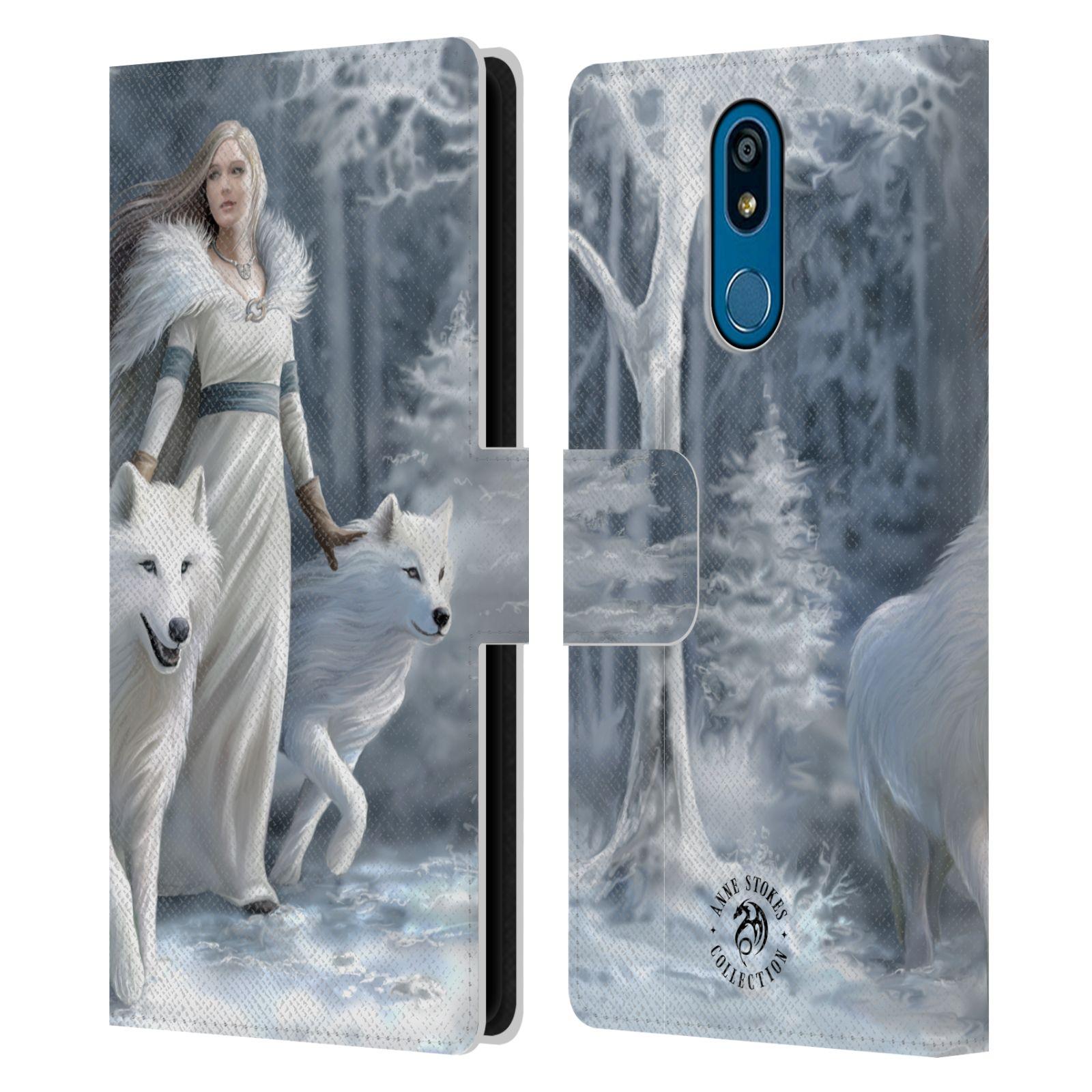 Pouzdro na mobil LG K40 - Head Case - fantasy - vlk zimní stráž
