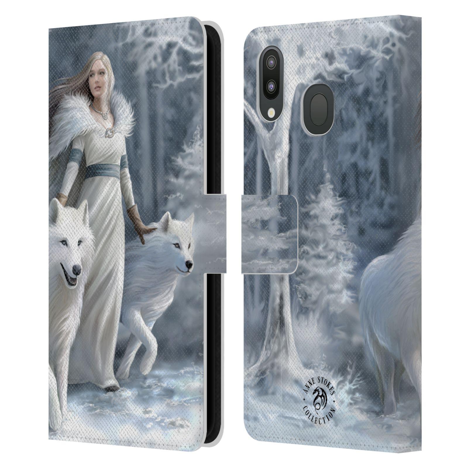 Pouzdro na mobil Samsung Galaxy M20 - Head Case - fantasy - vlk zimní stráž