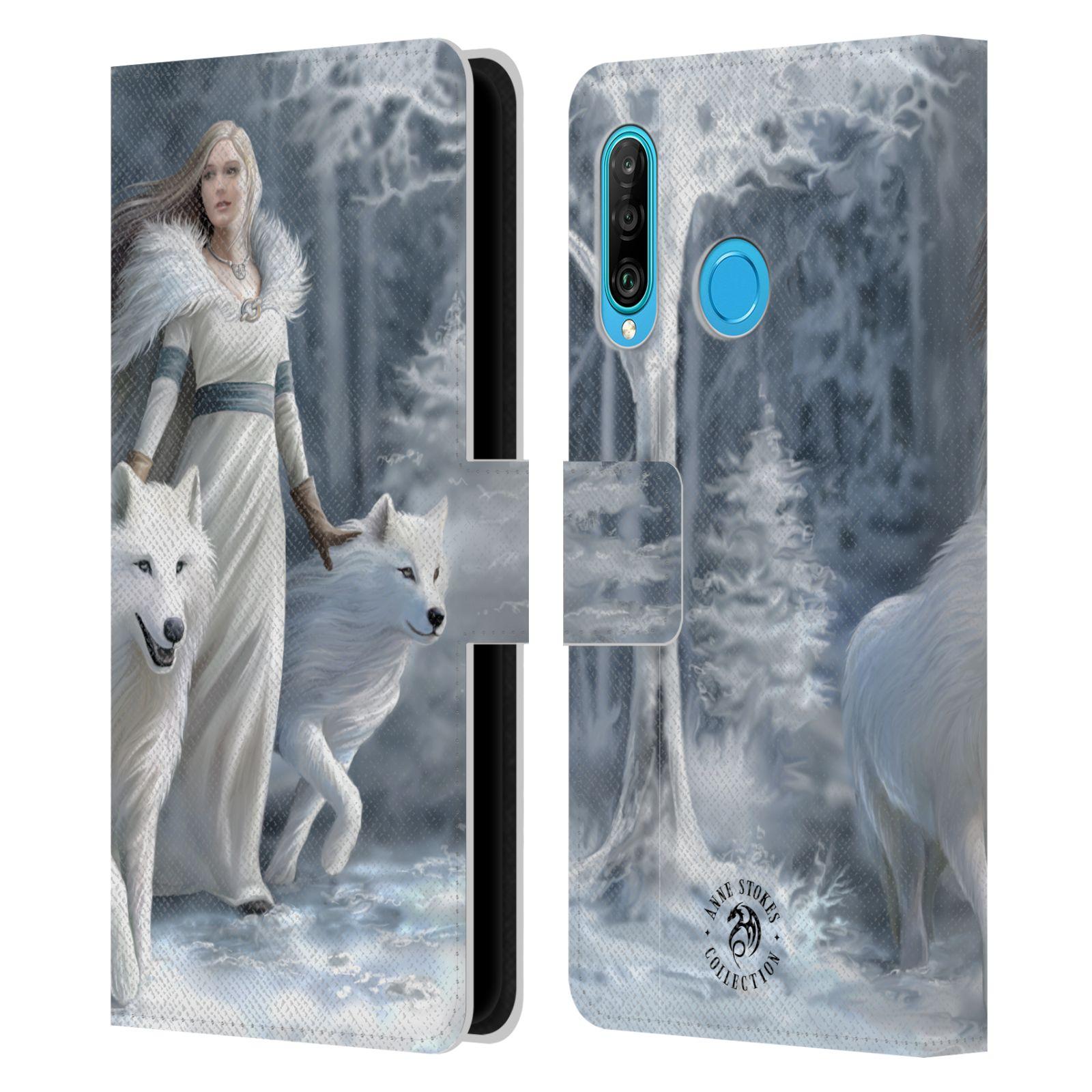 Pouzdro na mobil Huawei P30 LITE - Head Case - fantasy - vlk zimní stráž
