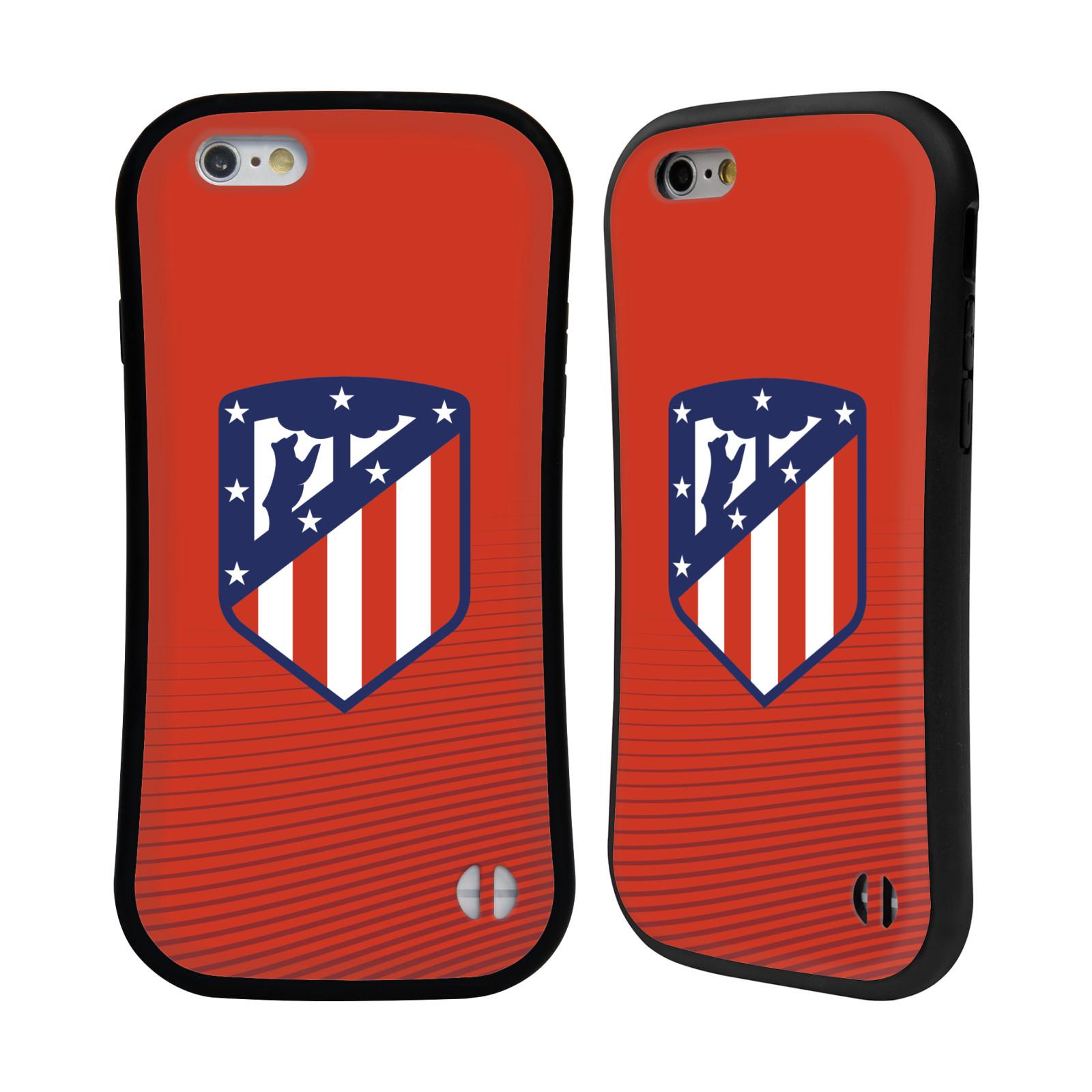 HEAD CASE odolný obal na mobil Apple Iphone 6/6S Fotbalový klub Atlético Madrid znak barevný červené pozadí