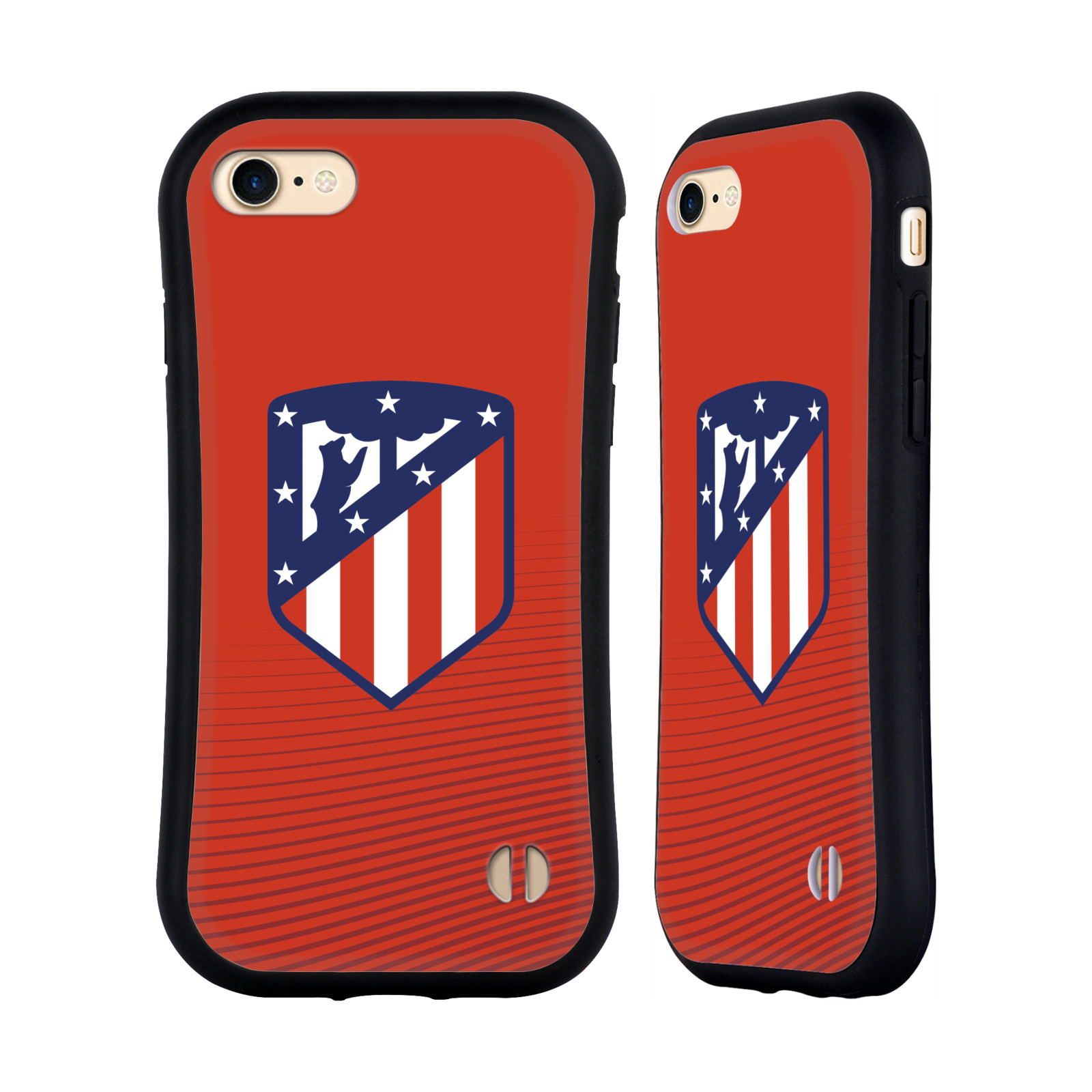HEAD CASE odolný obal na mobil Apple Iphone 8 Fotbalový klub Atlético Madrid znak barevný červené pozadí