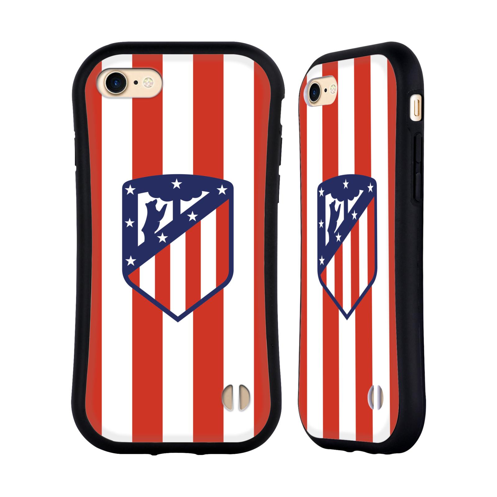 HEAD CASE odolný obal na mobil Apple Iphone 8 Fotbalový klub Atlético Madrid znak bílé a červené pruhy