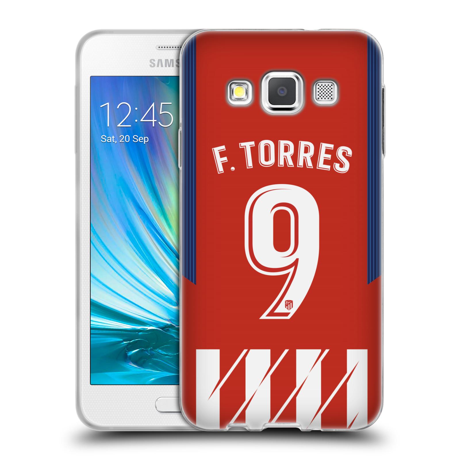 HEAD CASE silikonový obal na mobil Samsung Galaxy A3 (A300) Fotbalový klub Atlético Madrid dres Fernando Torres