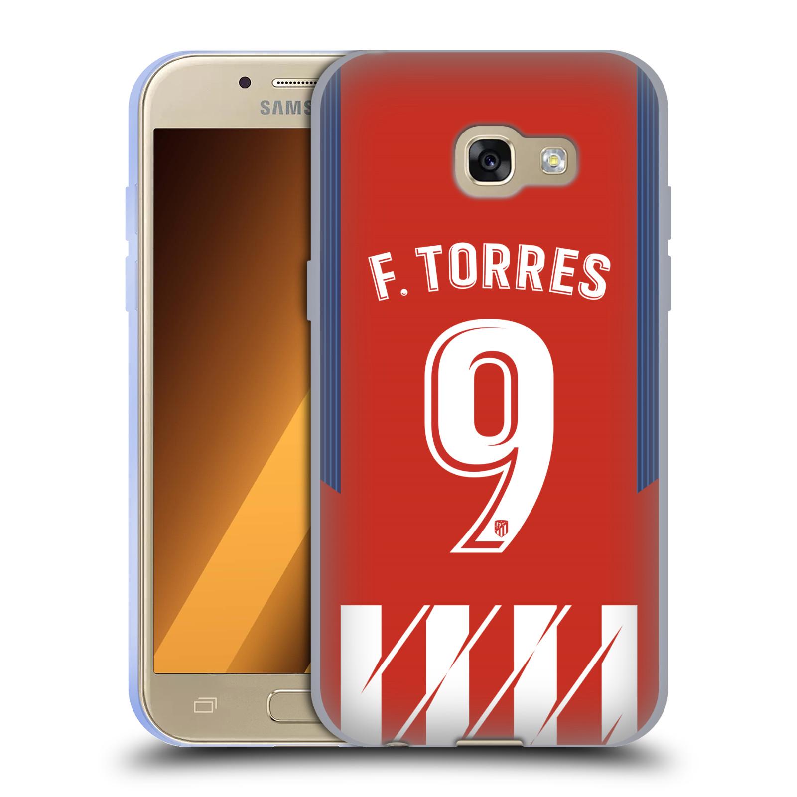HEAD CASE silikonový obal na mobil Samsung Galaxy A3 2017 (A320) Fotbalový klub Atlético Madrid dres Fernando Torres