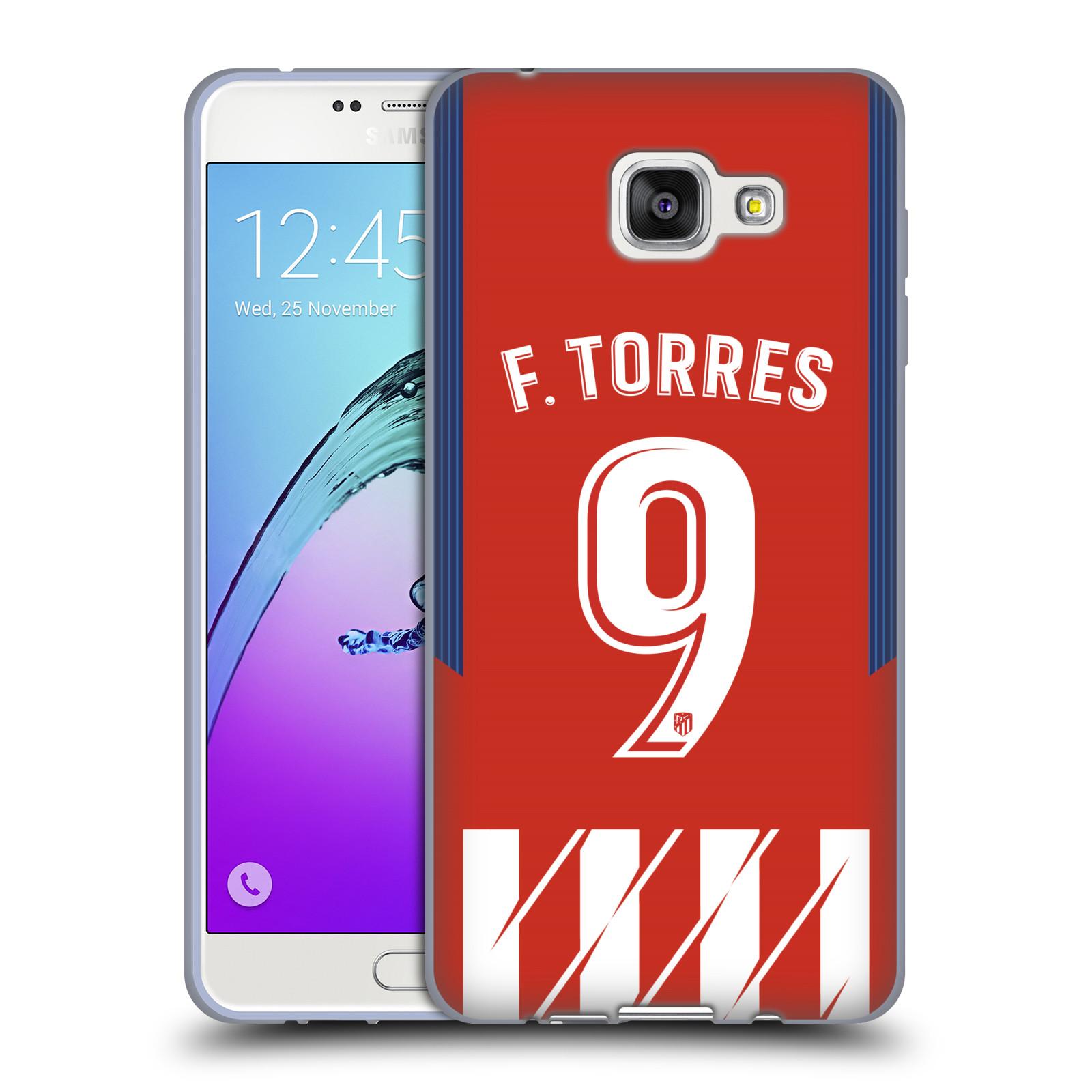 HEAD CASE silikonový obal na mobil Samsung Galaxy A7 2016 (A710) Fotbalový klub Atlético Madrid dres Fernando Torres