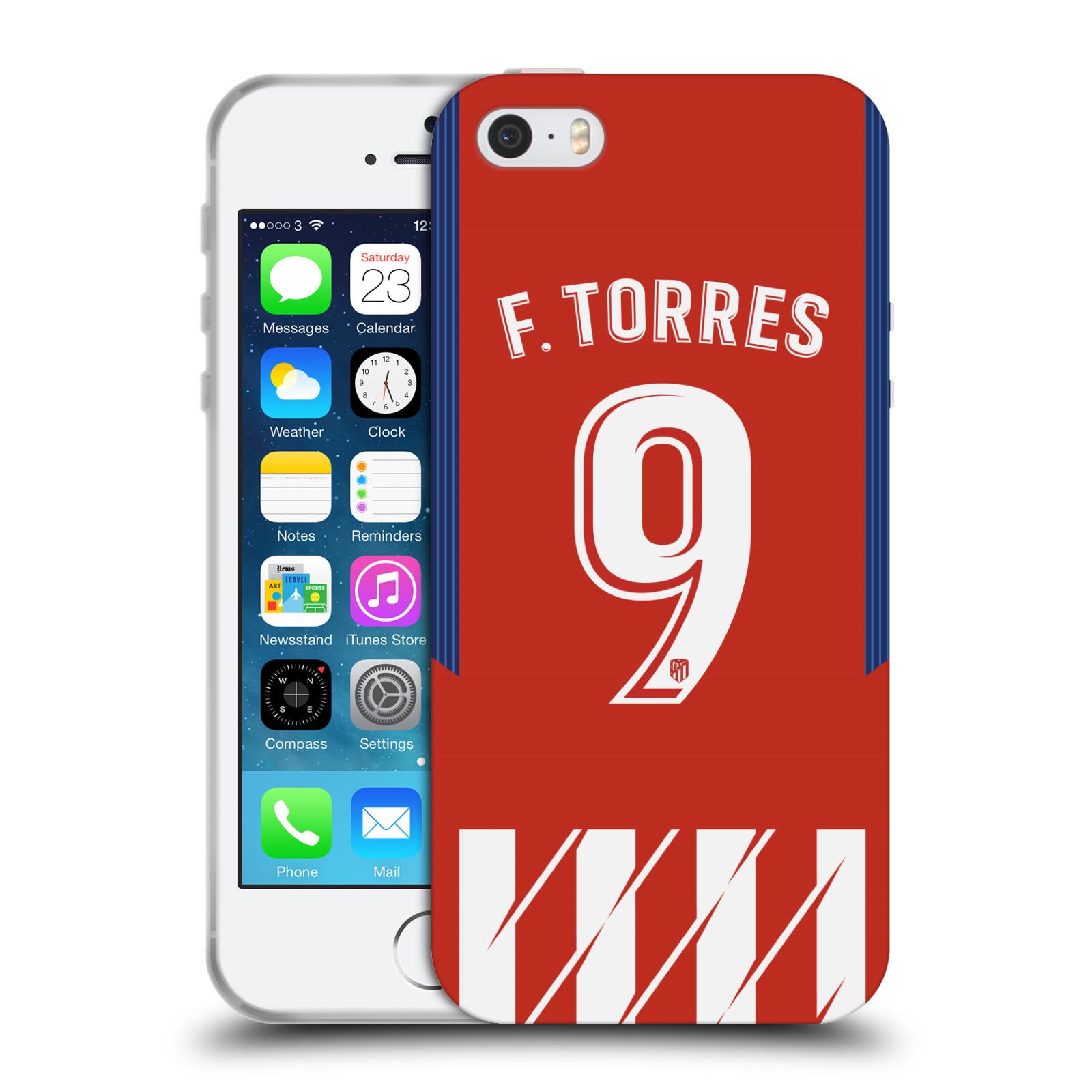 HEAD CASE silikonový obal na mobil Apple Iphone 5/5S Fotbalový klub Atlético Madrid dres Fernando Torres