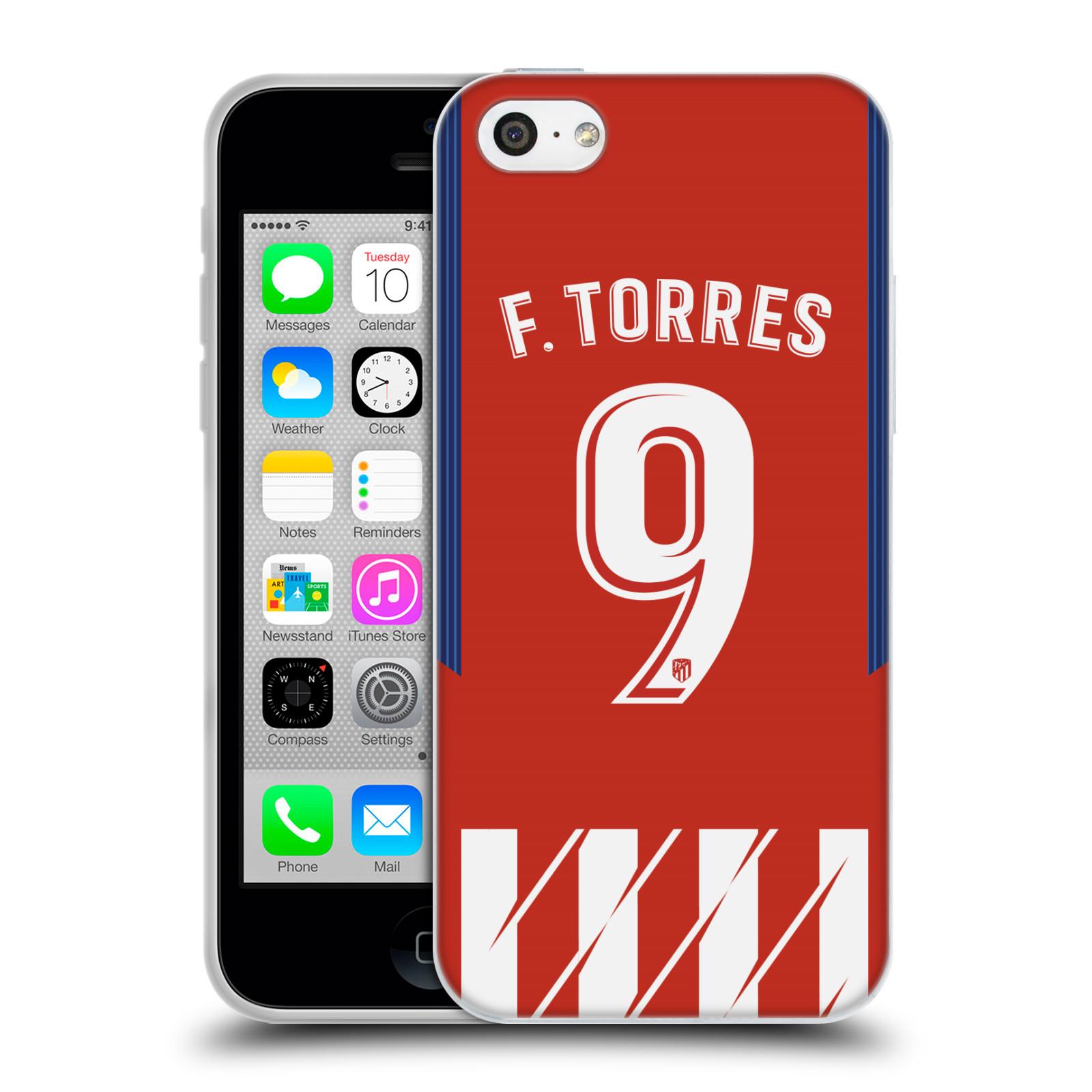 HEAD CASE silikonový obal na mobil Apple Iphone 5C Fotbalový klub Atlético Madrid dres Fernando Torres