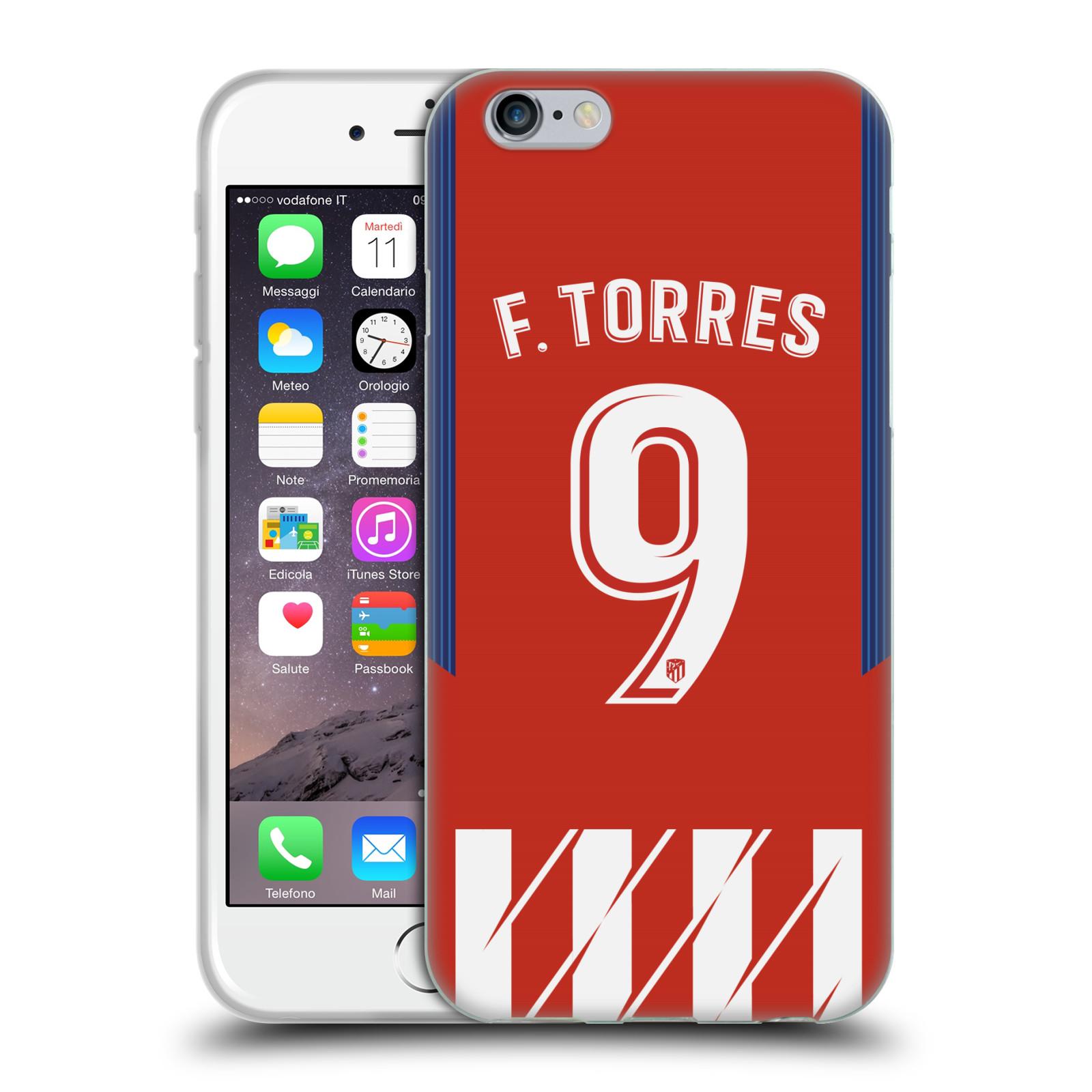 HEAD CASE silikonový obal na mobil Apple Iphone 6/6S Fotbalový klub Atlético Madrid dres Fernando Torres