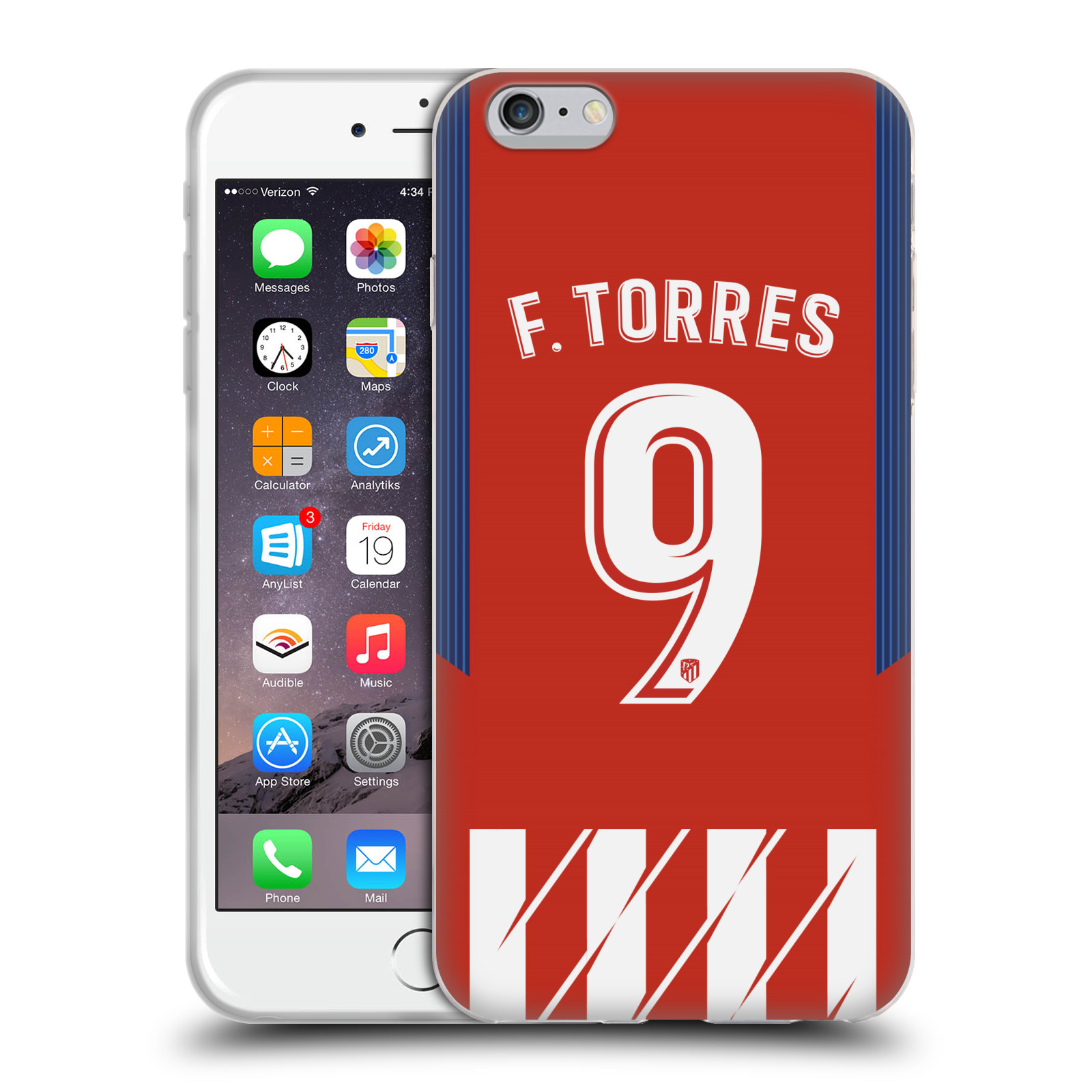 HEAD CASE silikonový obal na mobil Apple Iphone 6/6S PLUS Fotbalový klub Atlético Madrid dres Fernando Torres