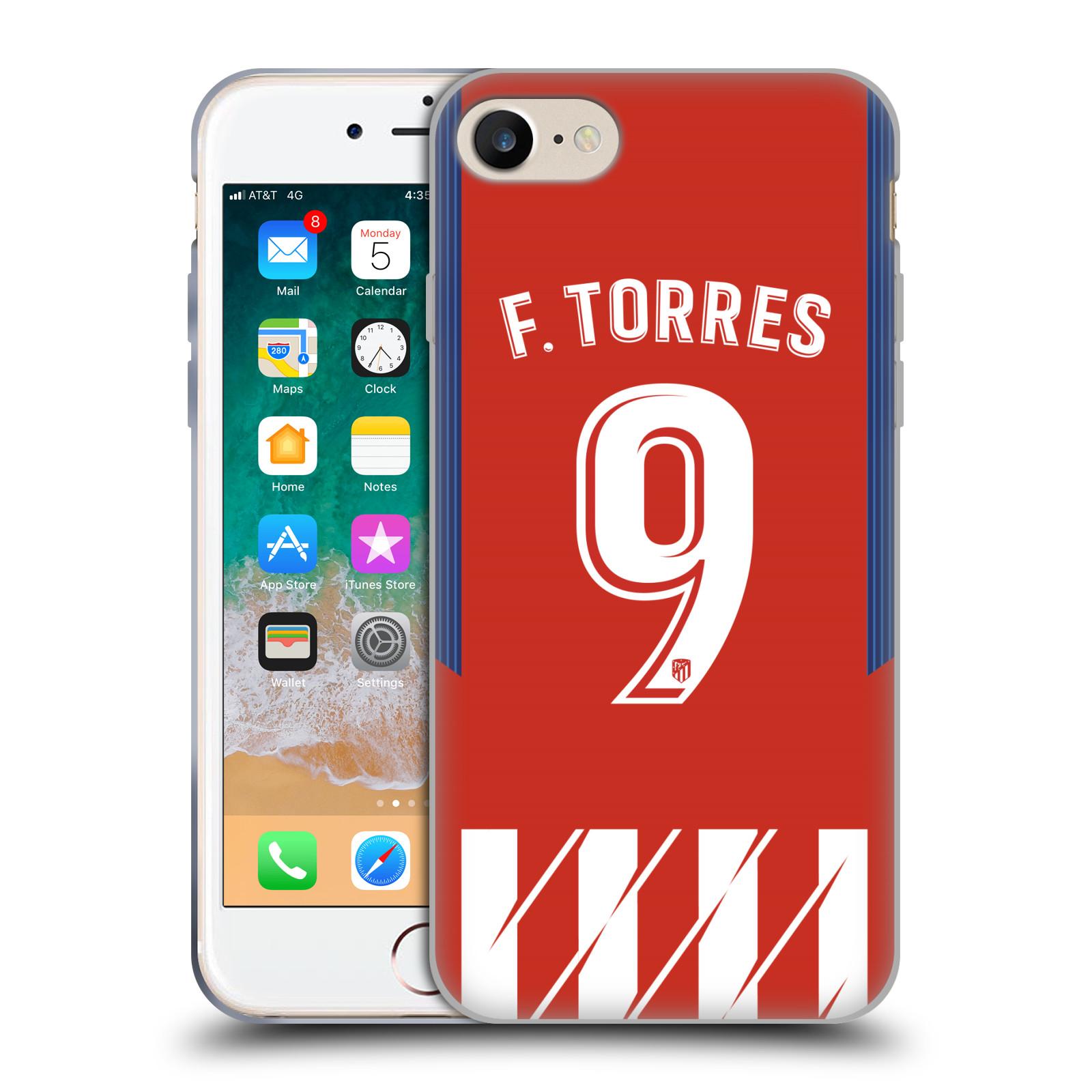 HEAD CASE silikonový obal na mobil Apple Iphone 7 Fotbalový klub Atlético Madrid dres Fernando Torres