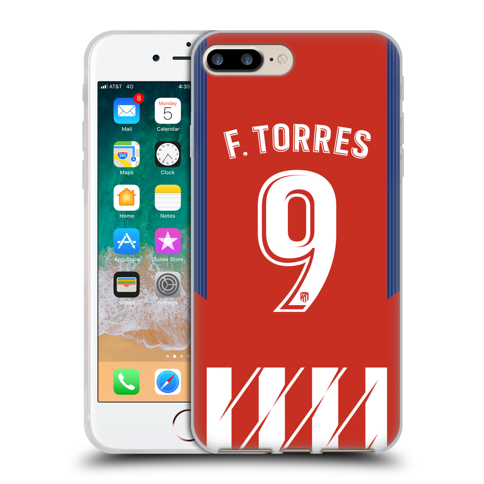 HEAD CASE silikonový obal na mobil Apple Iphone 7 PLUS Fotbalový klub Atlético Madrid dres Fernando Torres