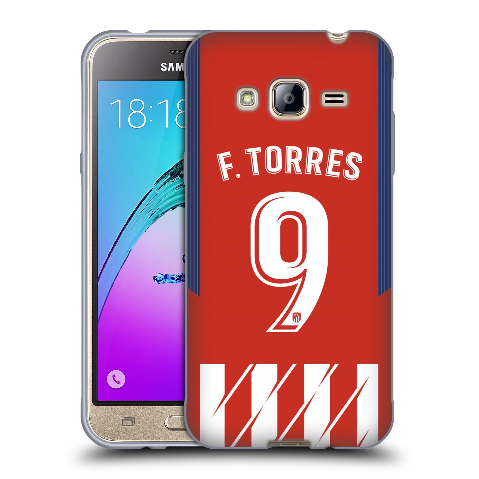 HEAD CASE silikonový obal na mobil Samsung Galaxy J3, J3 2016 Fotbalový klub Atlético Madrid dres Fernando Torres