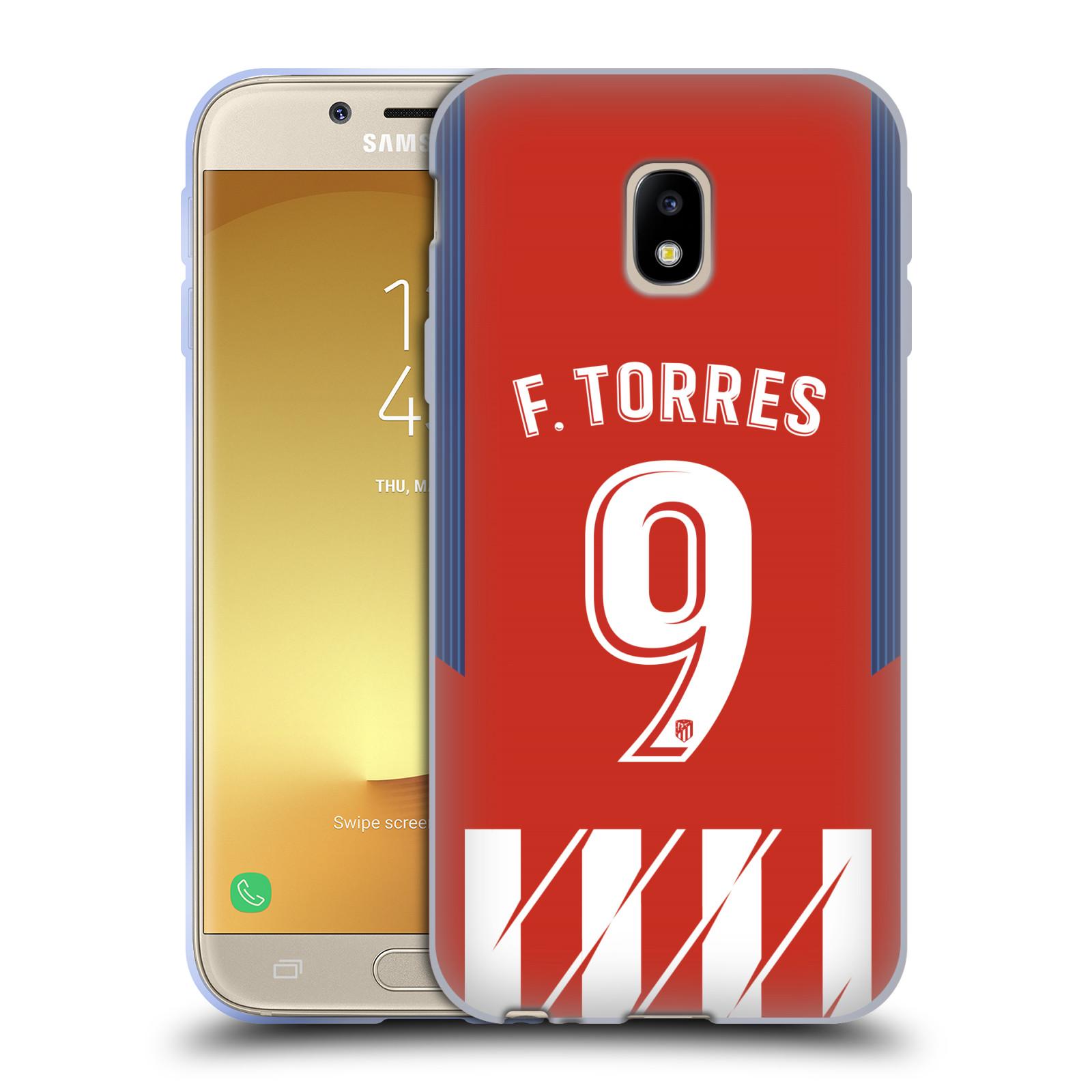 HEAD CASE silikonový obal na mobil Samsung Galaxy J3 2017 (J330, J330F) Fotbalový klub Atlético Madrid dres Fernando Torres