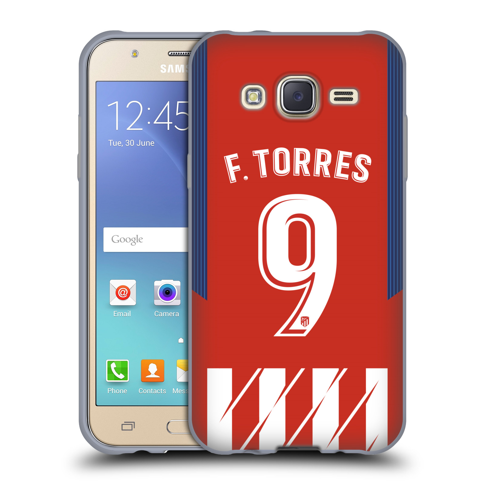 HEAD CASE silikonový obal na mobil Samsung Galaxy J5 2015 (J500) Fotbalový klub Atlético Madrid dres Fernando Torres