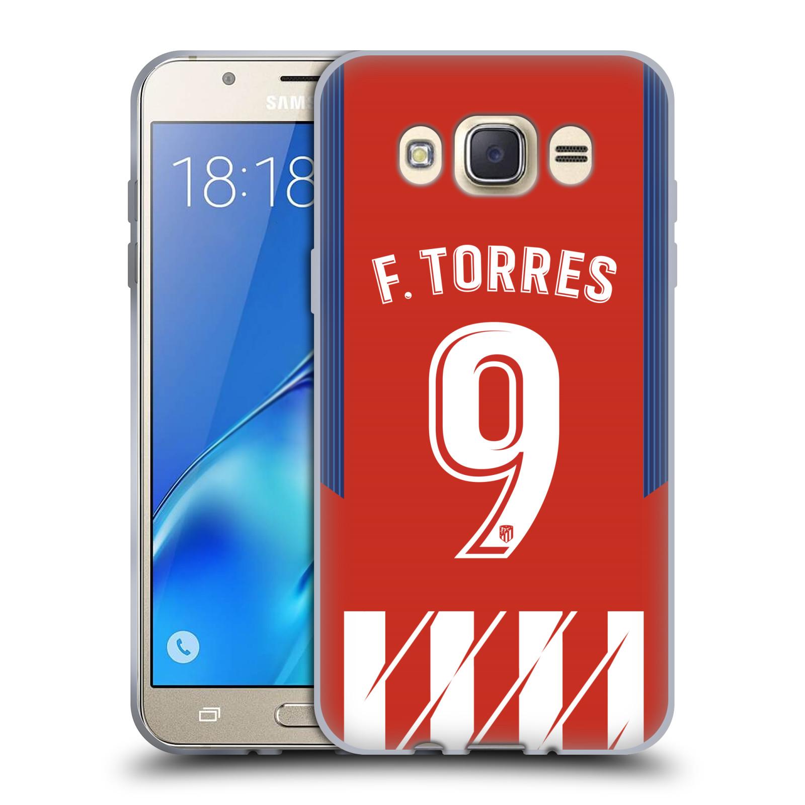 HEAD CASE silikonový obal na mobil Samsung Galaxy J7 2016 Fotbalový klub Atlético Madrid dres Fernando Torres