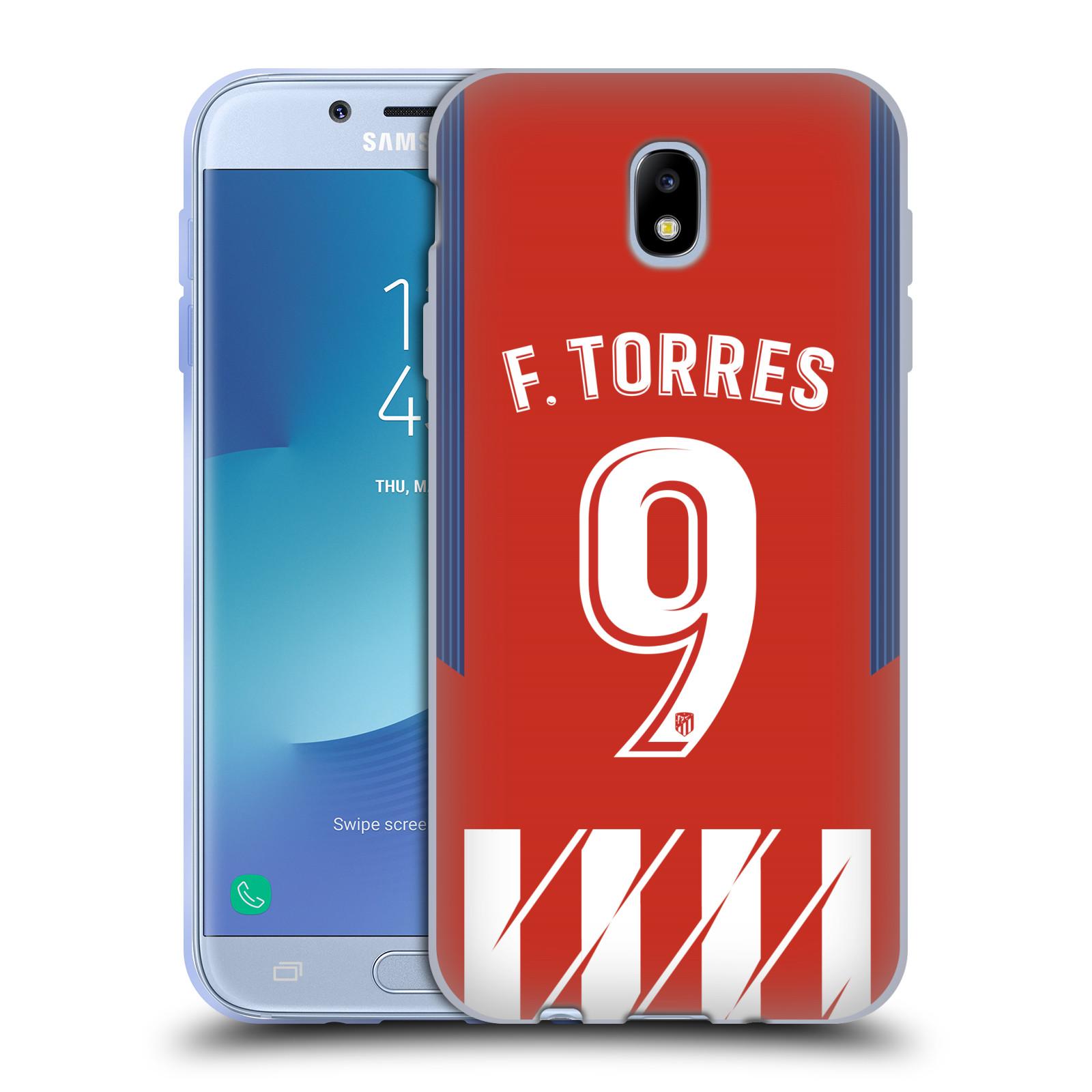 HEAD CASE silikonový obal na mobil Samsung Galaxy J7 2017 Fotbalový klub Atlético Madrid dres Fernando Torres