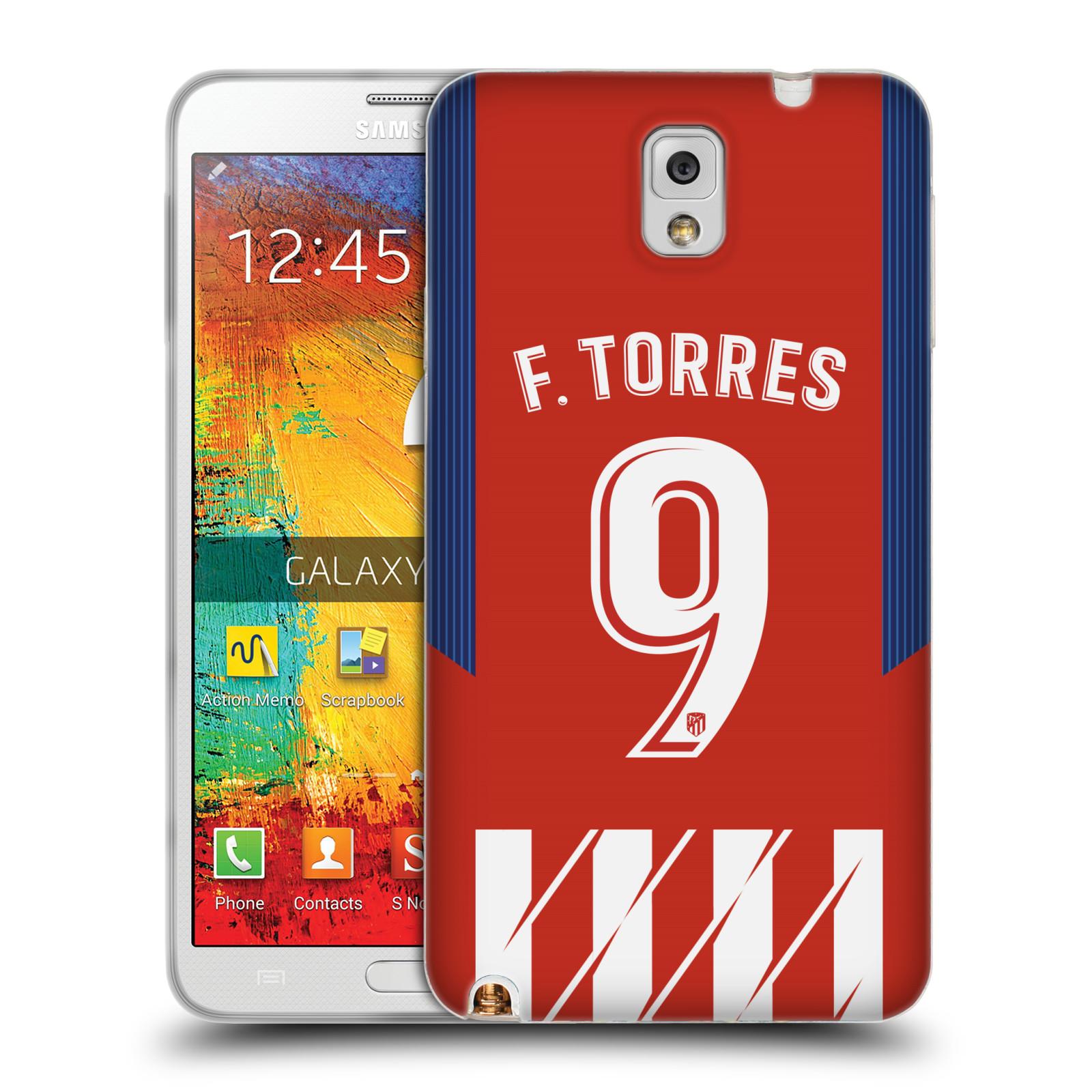 HEAD CASE silikonový obal na mobil Samsung Galaxy Note 3 Fotbalový klub Atlético Madrid dres Fernando Torres