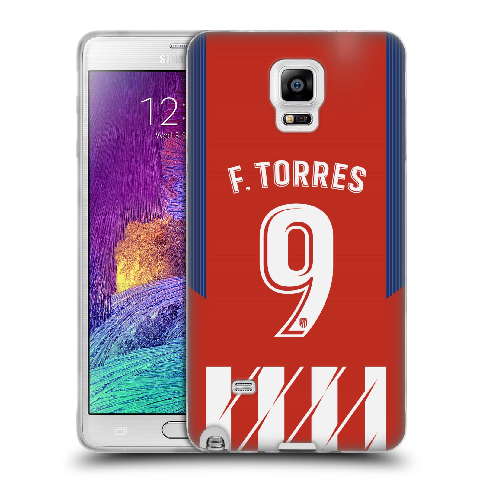 HEAD CASE silikonový obal na mobil Samsung Galaxy Note 4 Fotbalový klub Atlético Madrid dres Fernando Torres