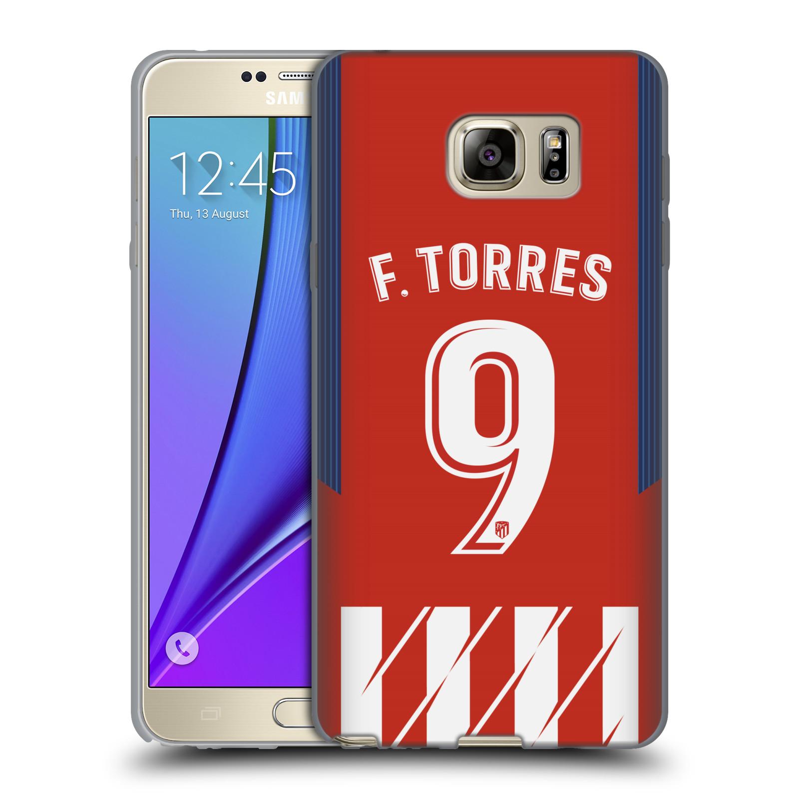 HEAD CASE silikonový obal na mobil Samsung Galaxy Note 5 Fotbalový klub Atlético Madrid dres Fernando Torres