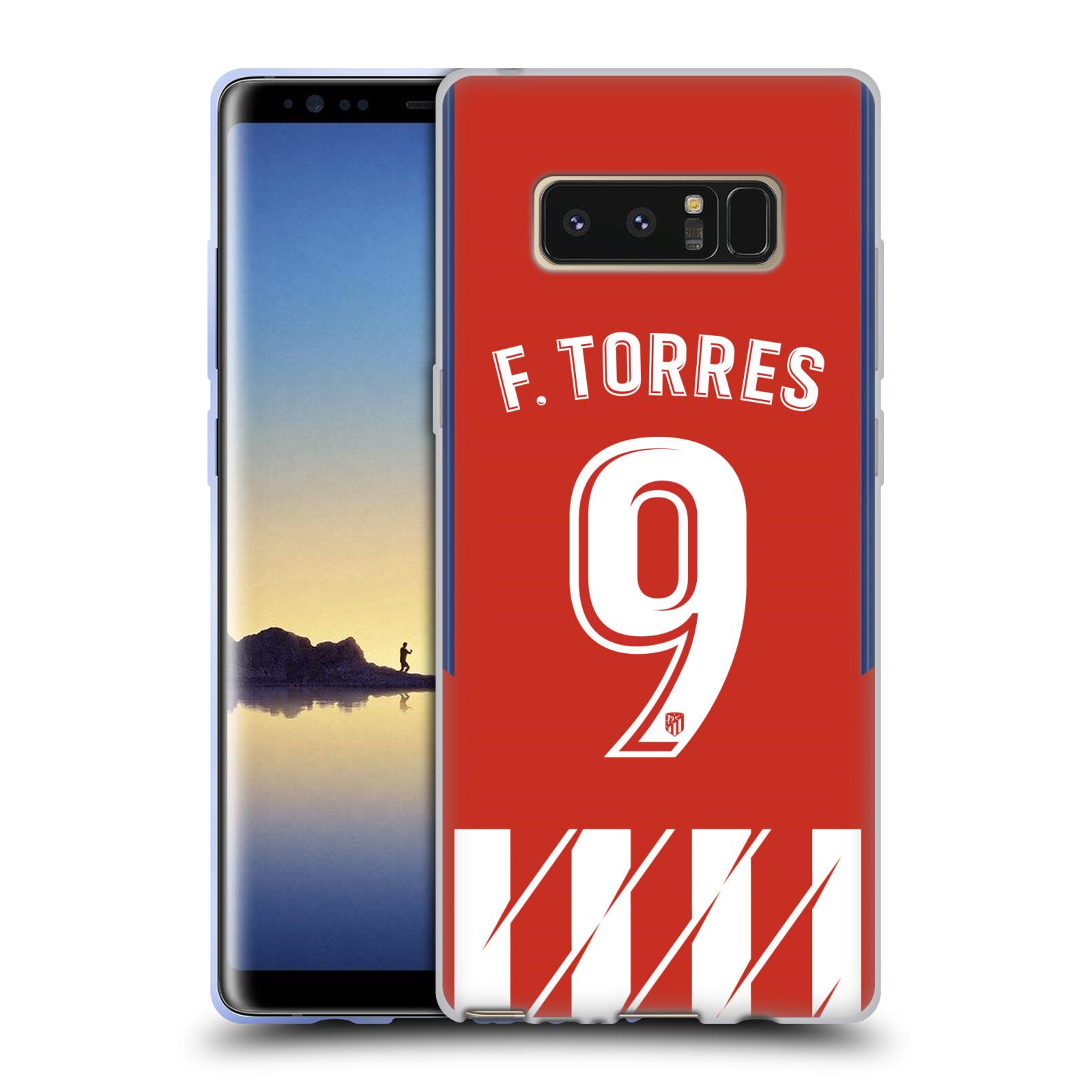 HEAD CASE silikonový obal na mobil Samsung Galaxy Note 8 Fotbalový klub Atlético Madrid dres Fernando Torres