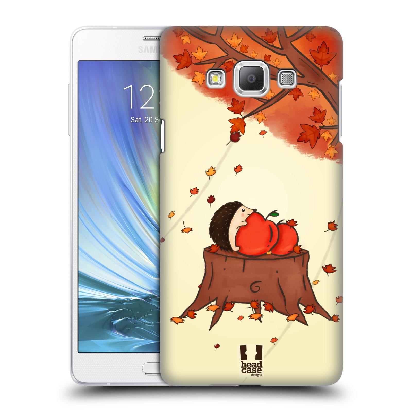 HEAD CASE plastový obal na mobil SAMSUNG GALAXY A7 vzor podzimní zvířátka ježek a jablíčka