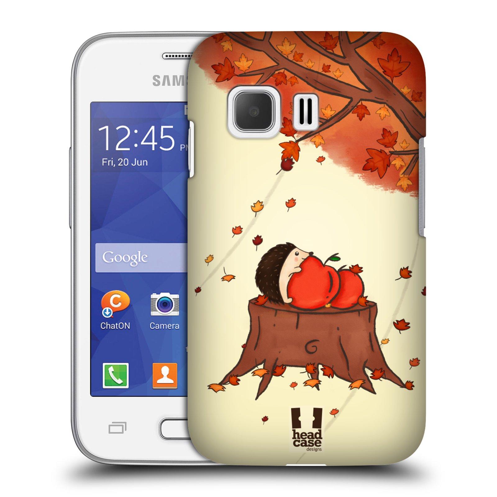 HEAD CASE plastový obal na mobil SAMSUNG Galaxy Young 2 (G130) vzor podzimní zvířátka ježek a jablíčka