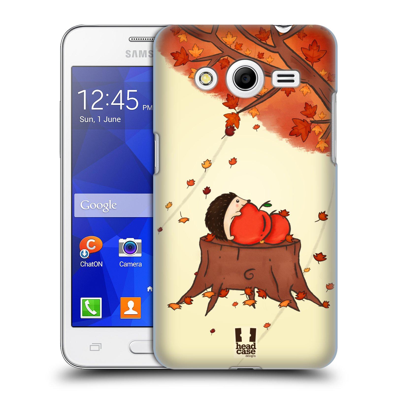 HEAD CASE plastový obal na mobil SAMSUNG GALAXY Core 2 (G355H) vzor podzimní zvířátka ježek a jablíčka