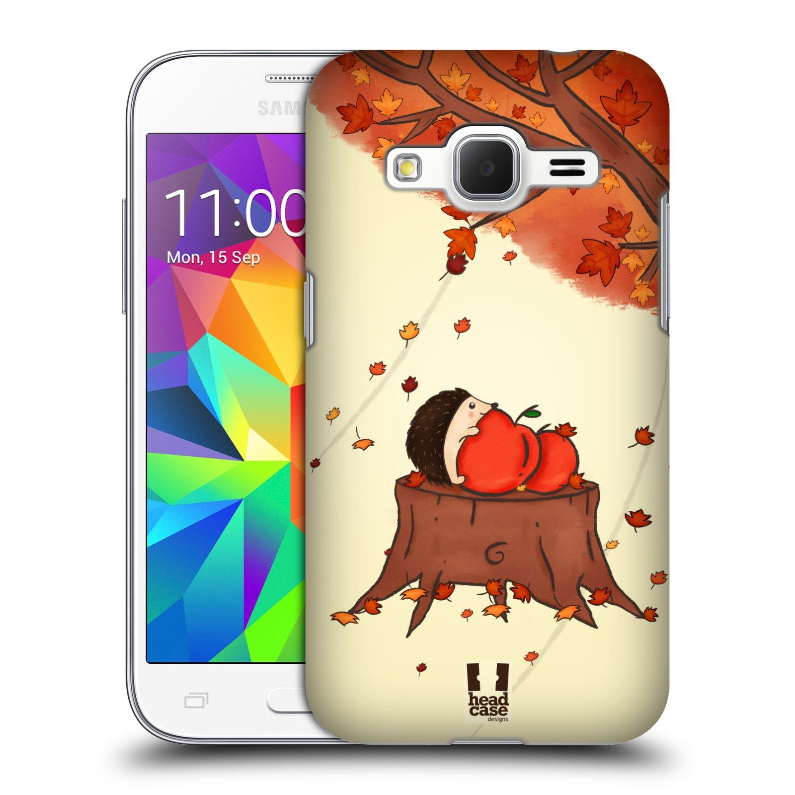 HEAD CASE plastový obal na mobil SAMSUNG GALAXY Core Prime (Core Prime VE) vzor podzimní zvířátka ježek a jablíčka